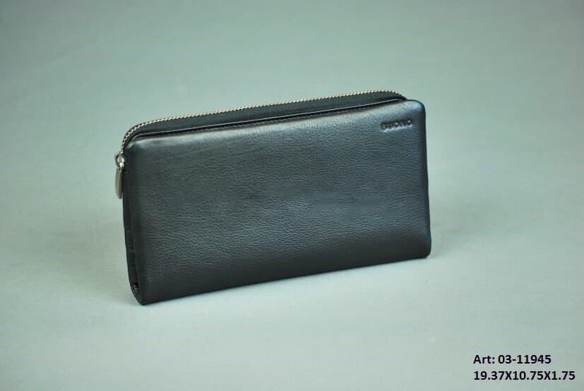 Мужской кожаный портмоне-клатч Buono 03-11945 Black