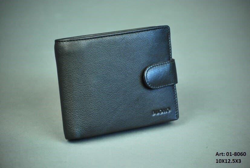 Мужской кожаный кошелек BUONO 01-8060 BLACK