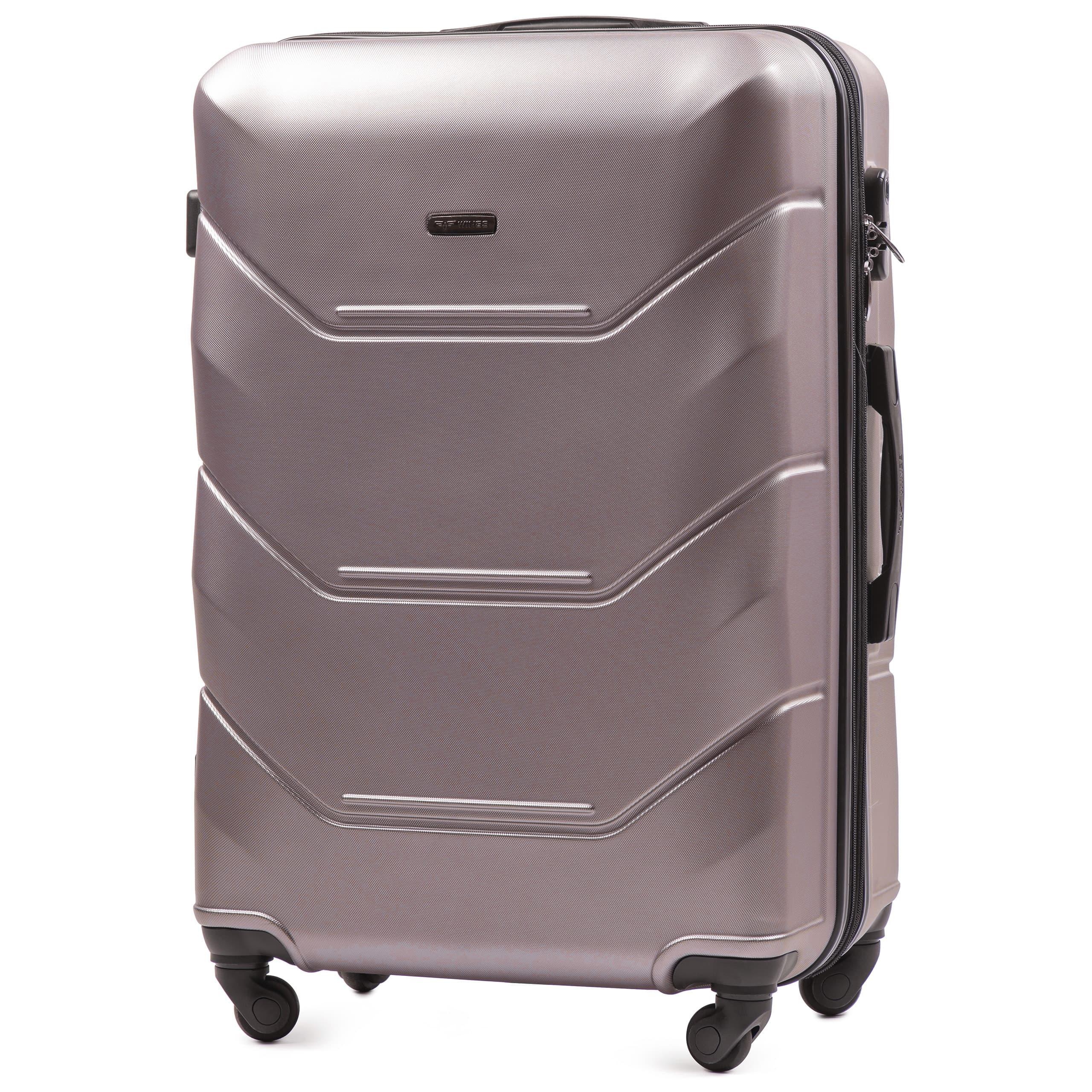 БОЛЬШОЙ ЧЕМОДАН WINGS 147 L ROSE-GOLD  PREMIUM НА 4-Х КАУЧУКОВЫХ КОЛЕСАХ! Для багажа ,до 23 кг!