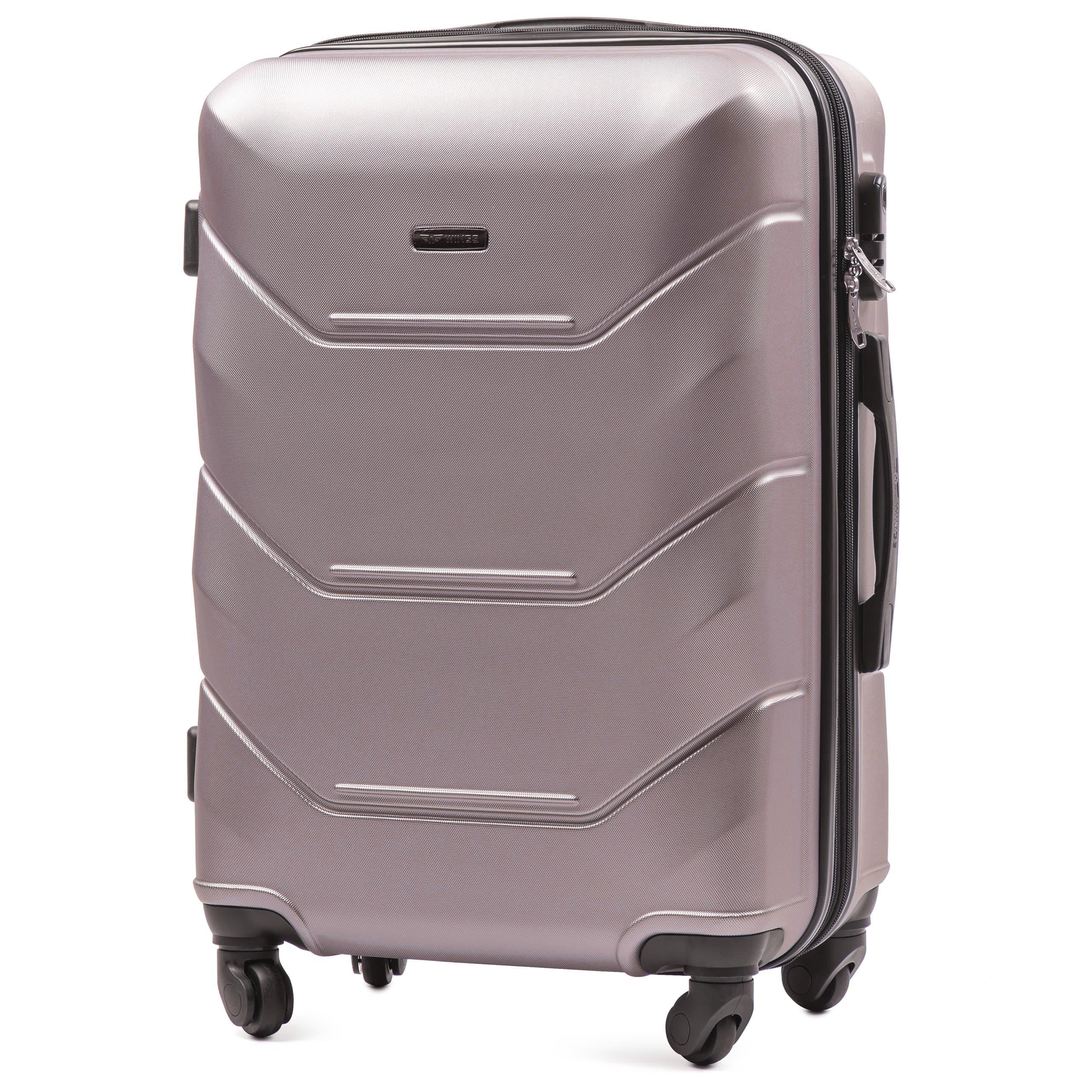 СРЕДНИЙ ЧЕМОДАН WINGS 147 M ROSE GOLD  PREMIUM НА 4-Х КАУЧУКОВЫХ КОЛЕСАХ!Для багажа ,до 18 кг