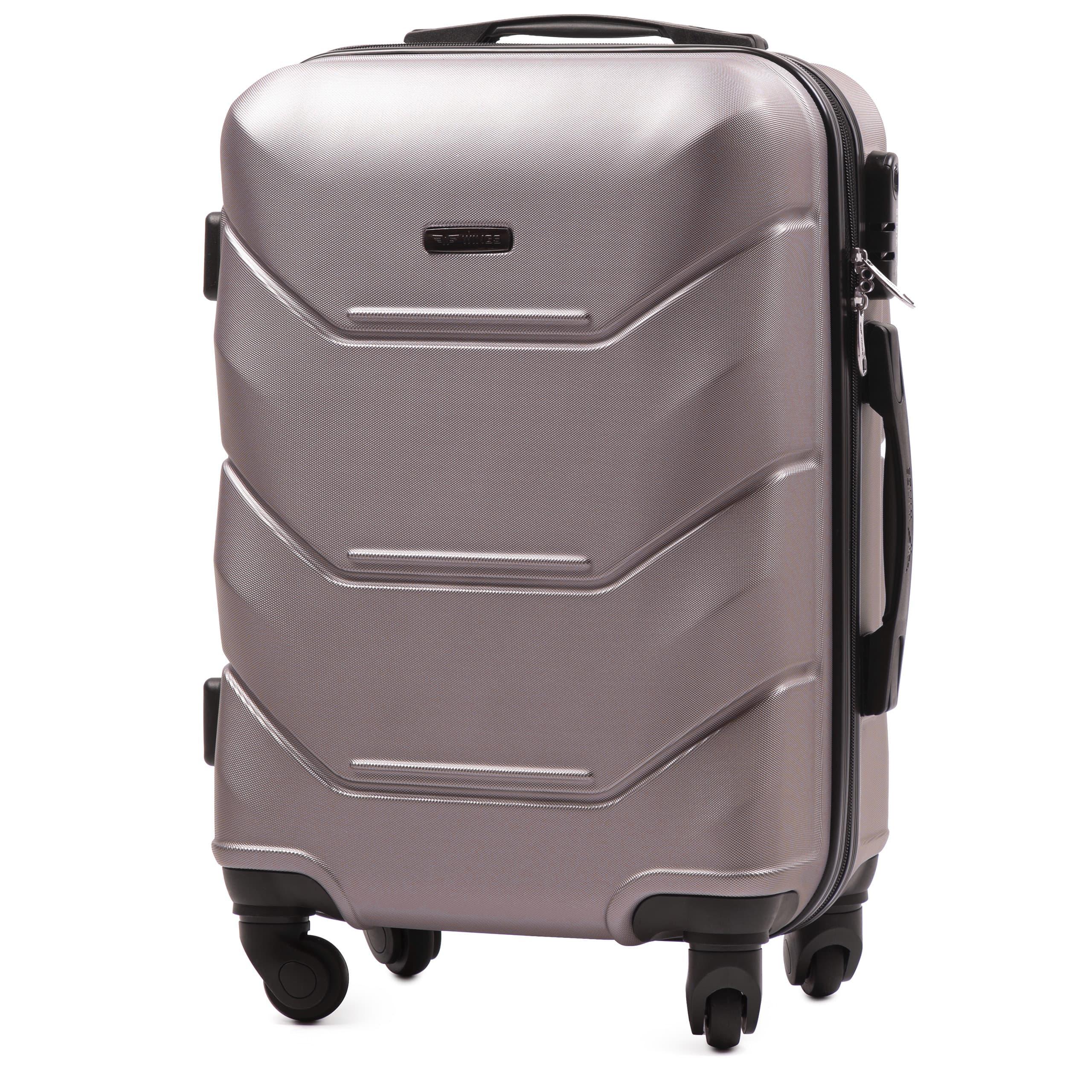 Valiza mica WINGS 147 S ROSE-GOLD  Premium pe 4 roti din cauciuc!Pt bagaj de maina,7/10 kg