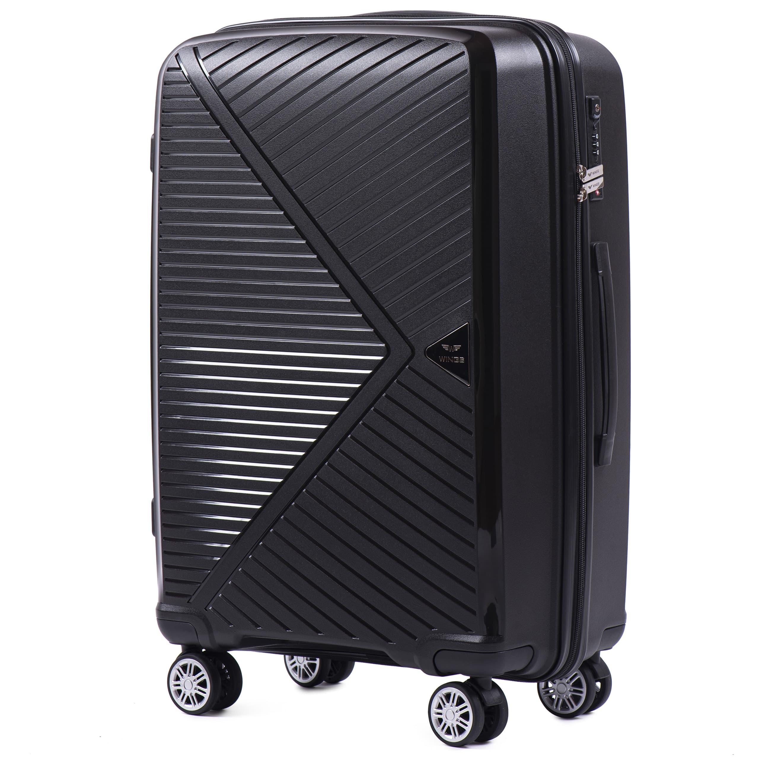 Чемодан Средний из полипропилена на 4-х колесах. Для багажа , до 18 кг