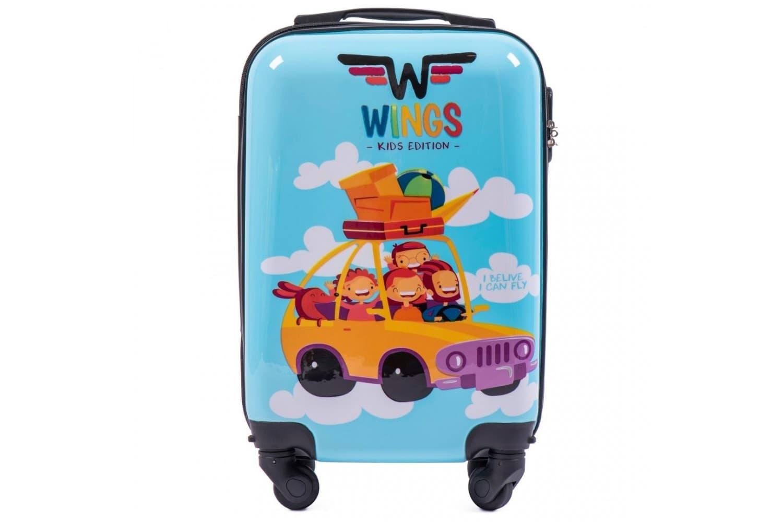Детский маленький чемодан на колесиках  WINGS KD01 XS Car