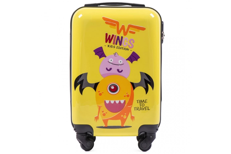Детский маленький чемодан на колесиках  WINGS KD01 XS Monstr