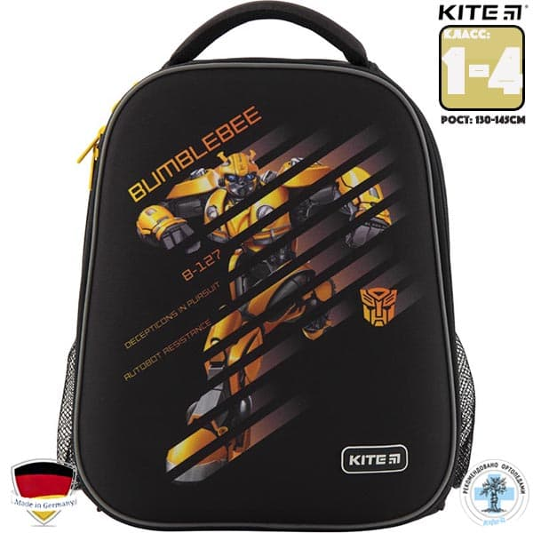 Ghiozdan ortopedic pt scoala cu carcasa  Kite Education Transformers BumbleBee Movie TF19-531M