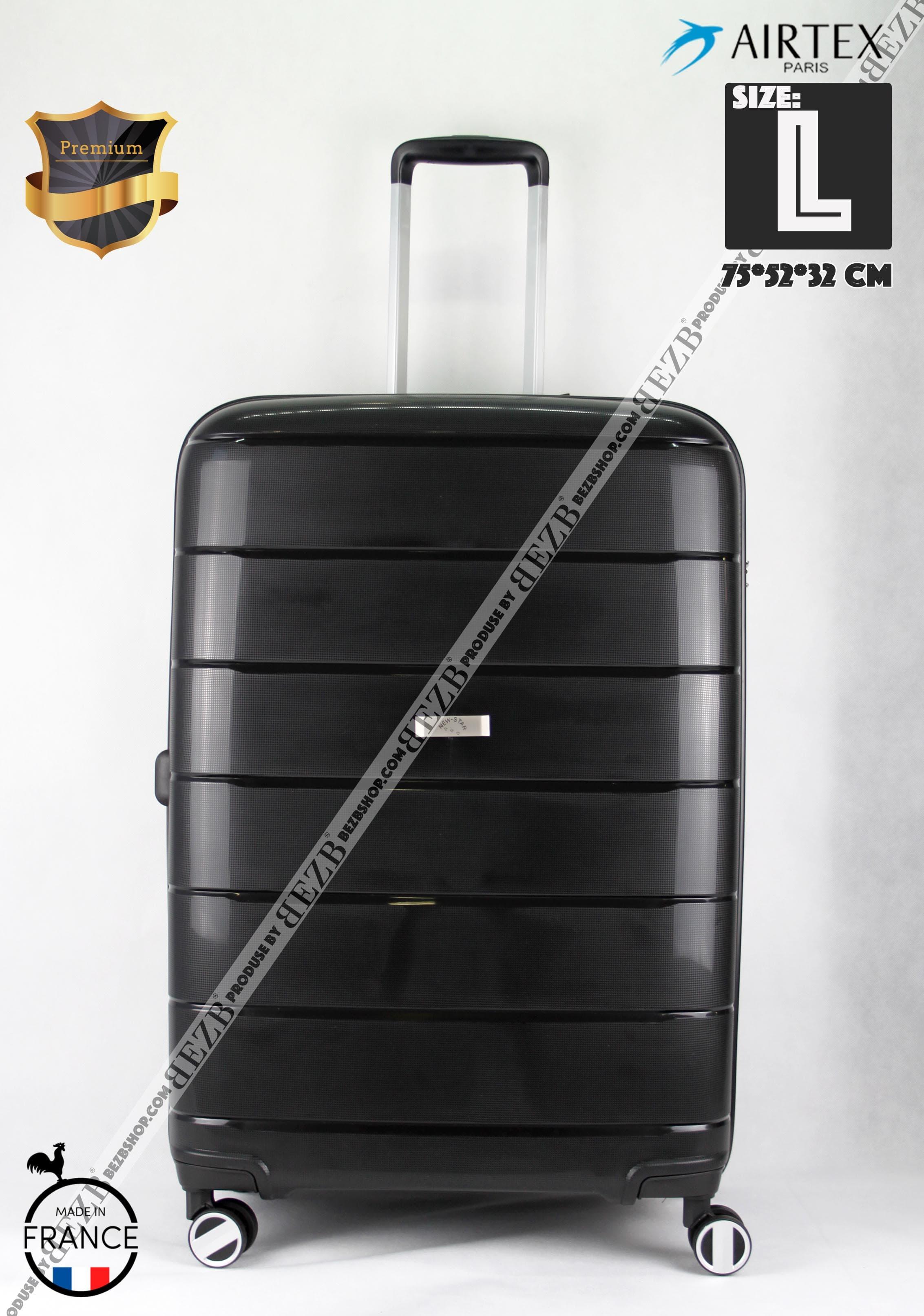Французский Ударостойкий чемодан Большой из полипропилена  на 4-х колесах Для багажа ,до 23 кг