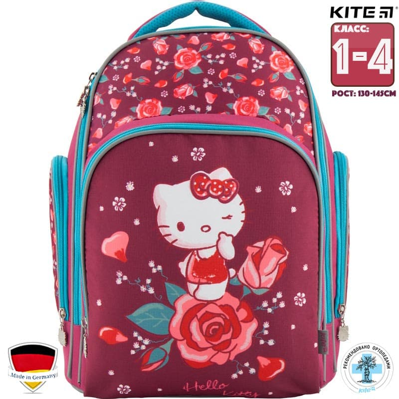 Ghiozdan ortopedic pt scoala Kite Hello Kitty HK18-706M