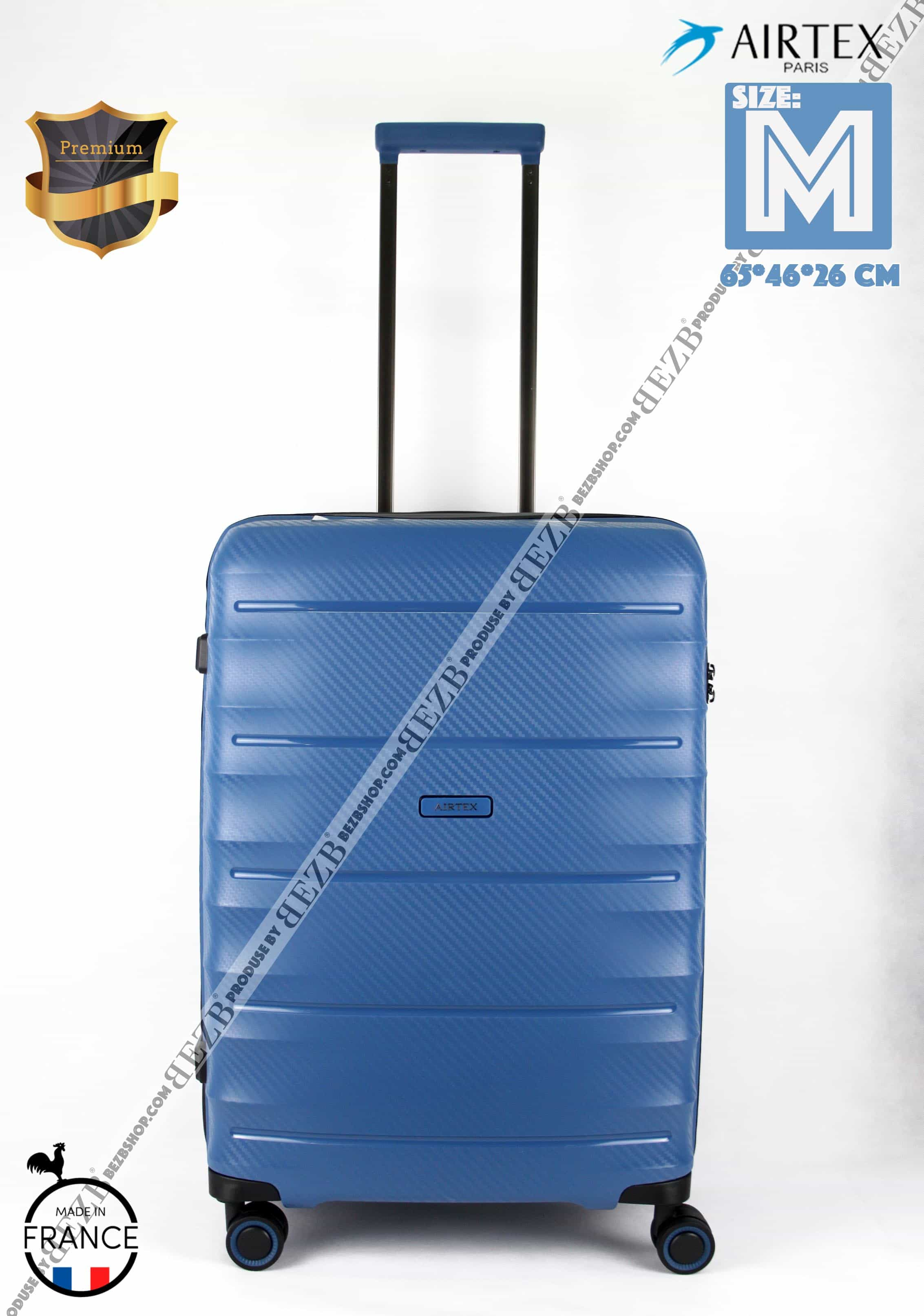 Ультралегкий. Французский чемодан Средний из полипропилена  на 4-х колесах.Для багажа , до 18 кг
