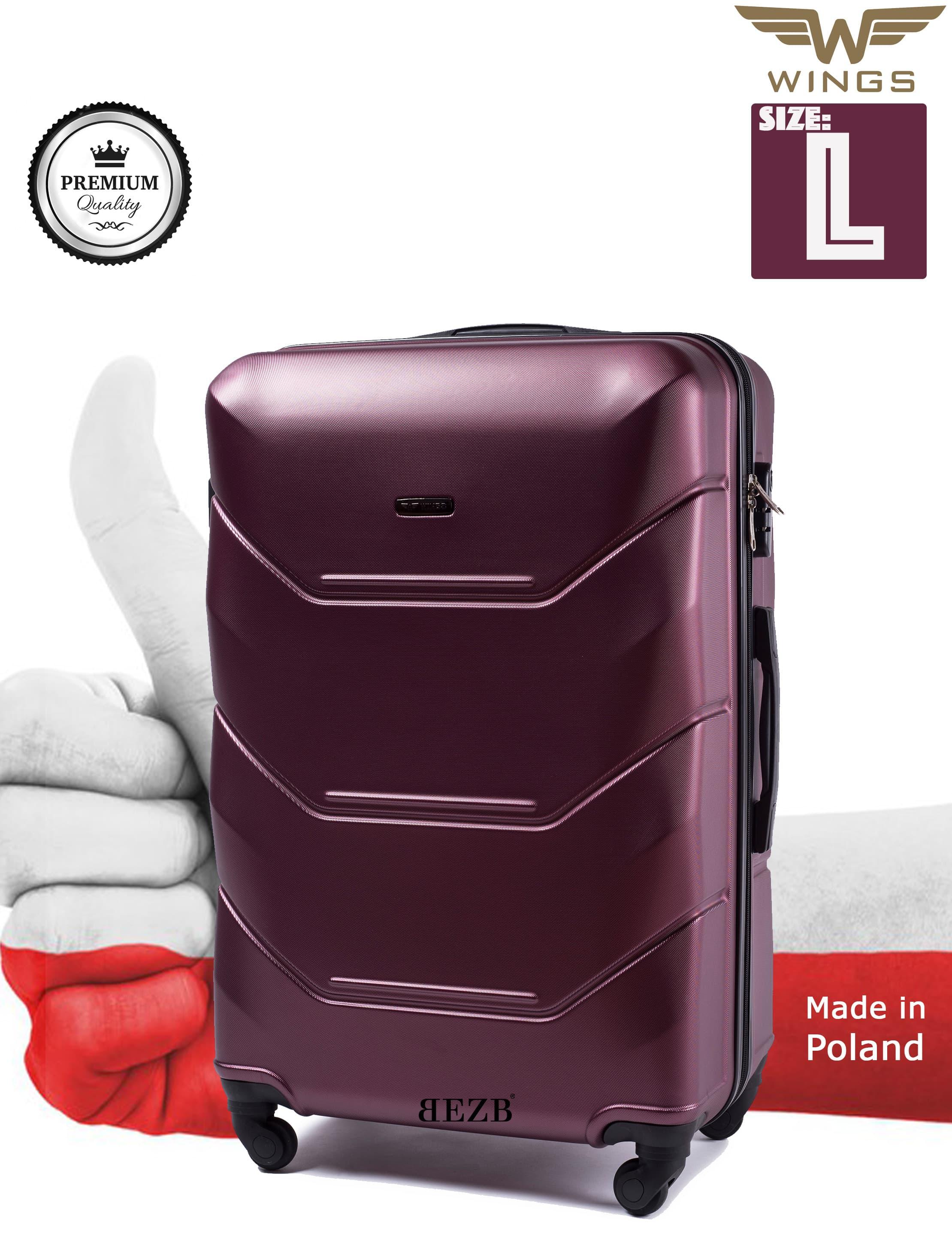 Valiza mare WINGS 147 L BURGUD Premium pe 4 roti din cauciuc!Pt bagaj,pina la 23 kg