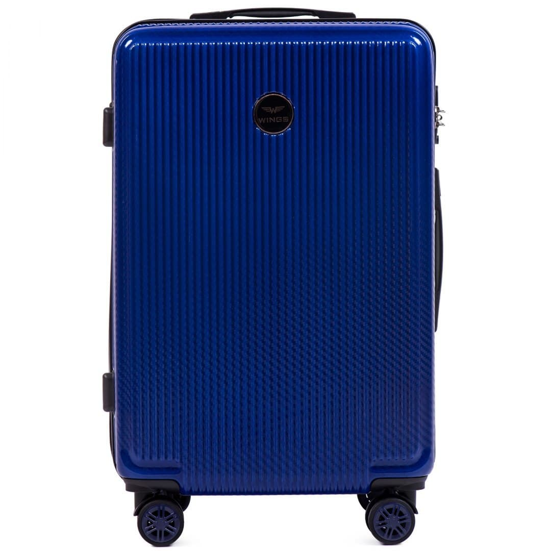 СРЕДИЙ ЧЕМОДАН WINGS PREMIUM 565 M Royal Blue НА 4-Х  КОЛЕСАХ!Для багажа ,до 18 кг