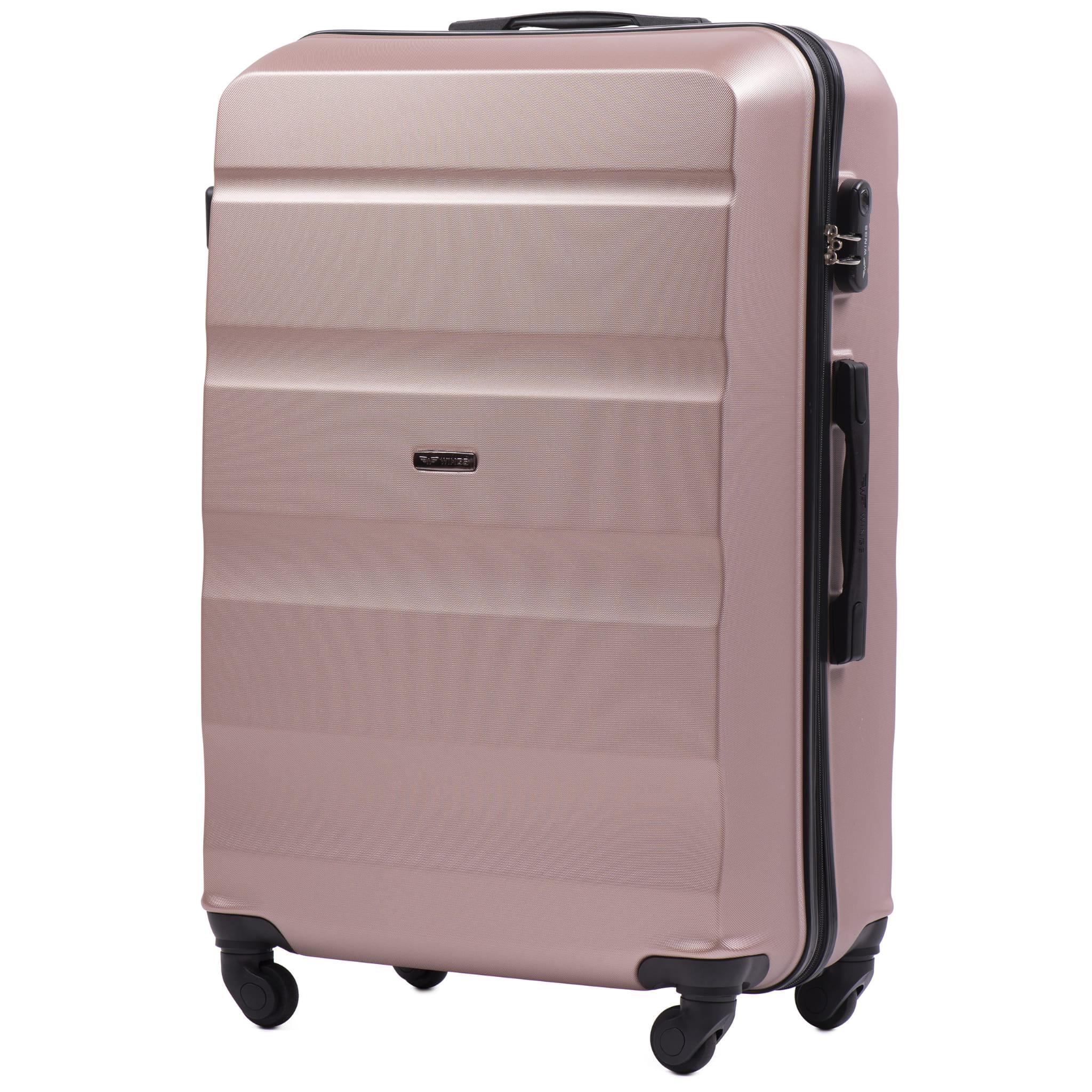 БОЛЬШОЙ ЧЕМОДАН WINGS AT01 L ROSE GOLD PREMIUM НА 4-Х КАУЧУКОВЫХ КОЛЕСАХ! Для багажа ,до 23 кг
