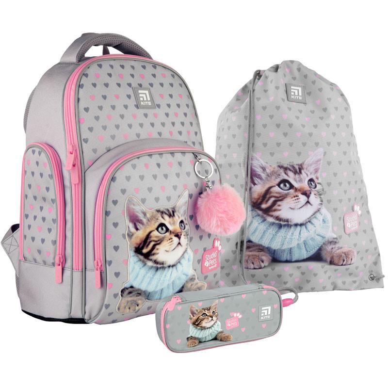 Школьный набор Kite.Ортопедический рюкзак пенал сумка SET_SP21-706M
