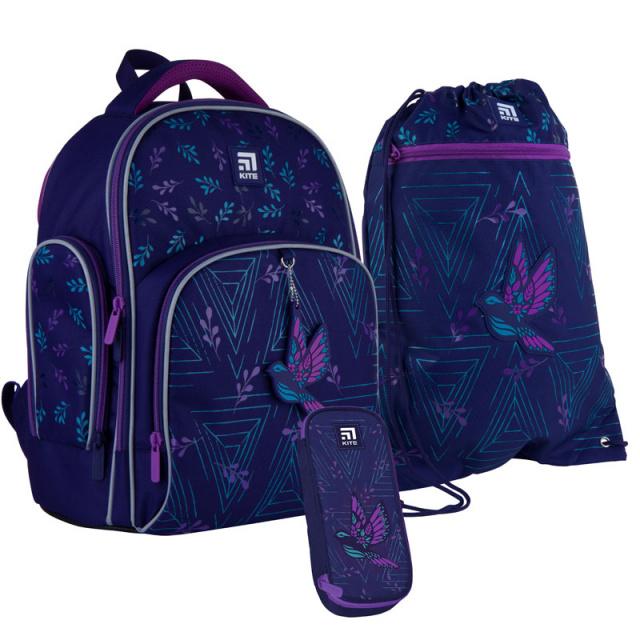 Школьный набор Kite.Ортопедический рюкзак пенал сумка SET_K21-706S-2