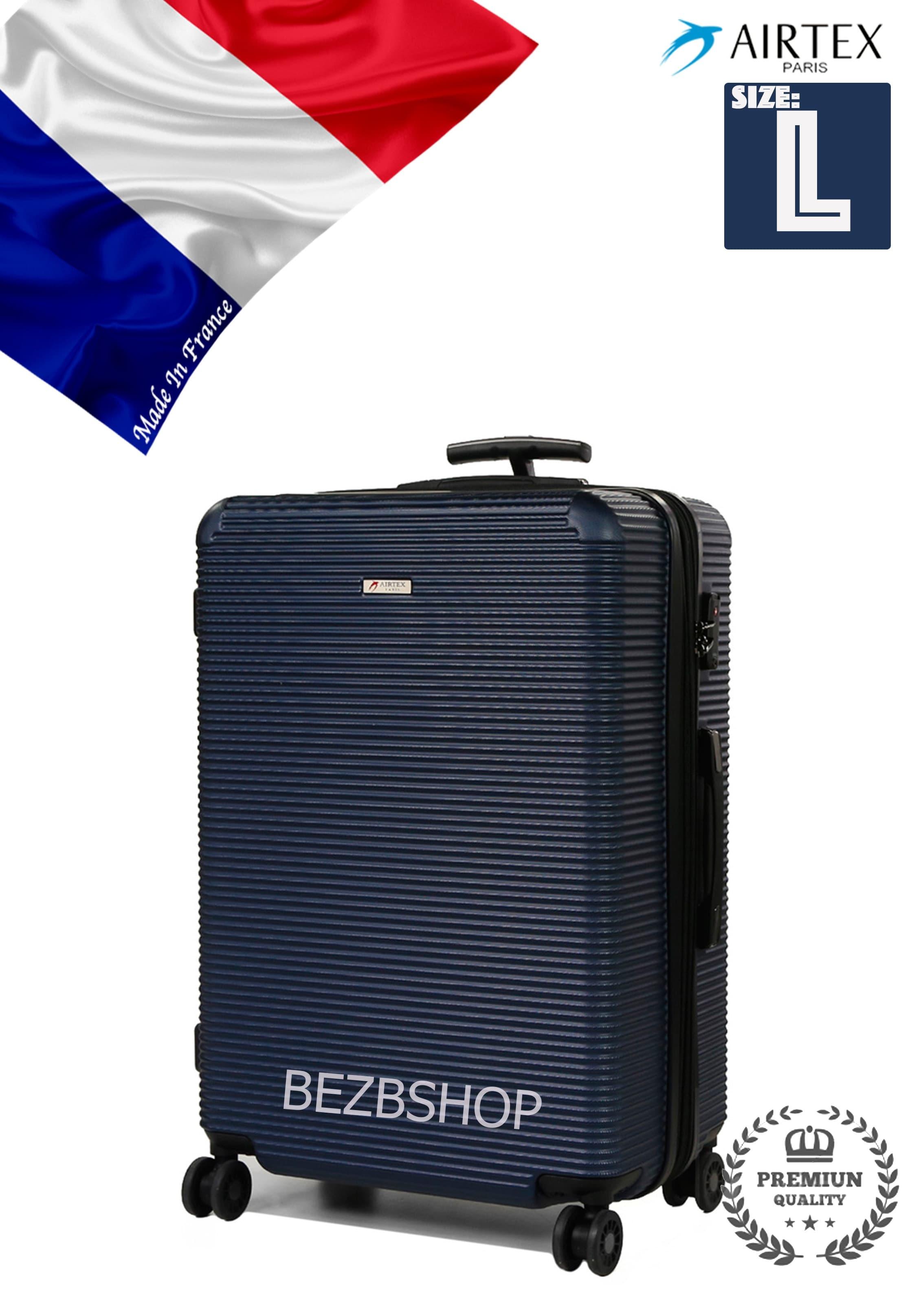 Valiza Franceza mare din policarbonat 968 L Blue Pt bagajul ,pina la 23 kg