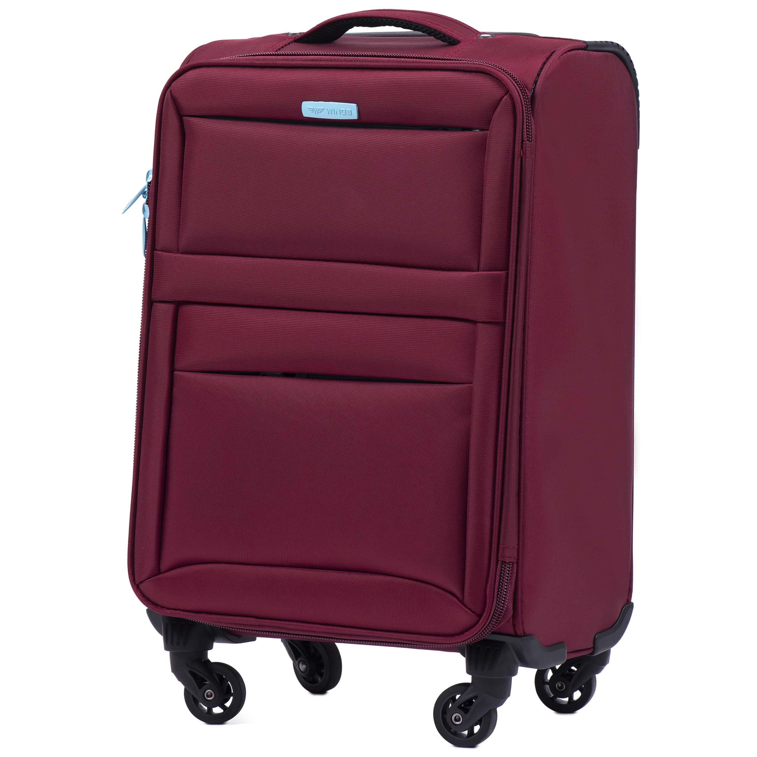 Чемодан Ультра-Легкий 'Wings' 2861 тканевый Малый  (S) на 4-х колесах RED. Для ручной Клади до 10 кг