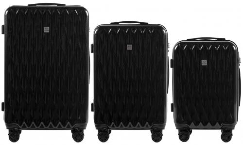 Комплект чемоданов из Поликарбонатa! ПОЛЬСКИЕ  Ударостойкиe ! WINGS PRIME PC190 SET SILVER