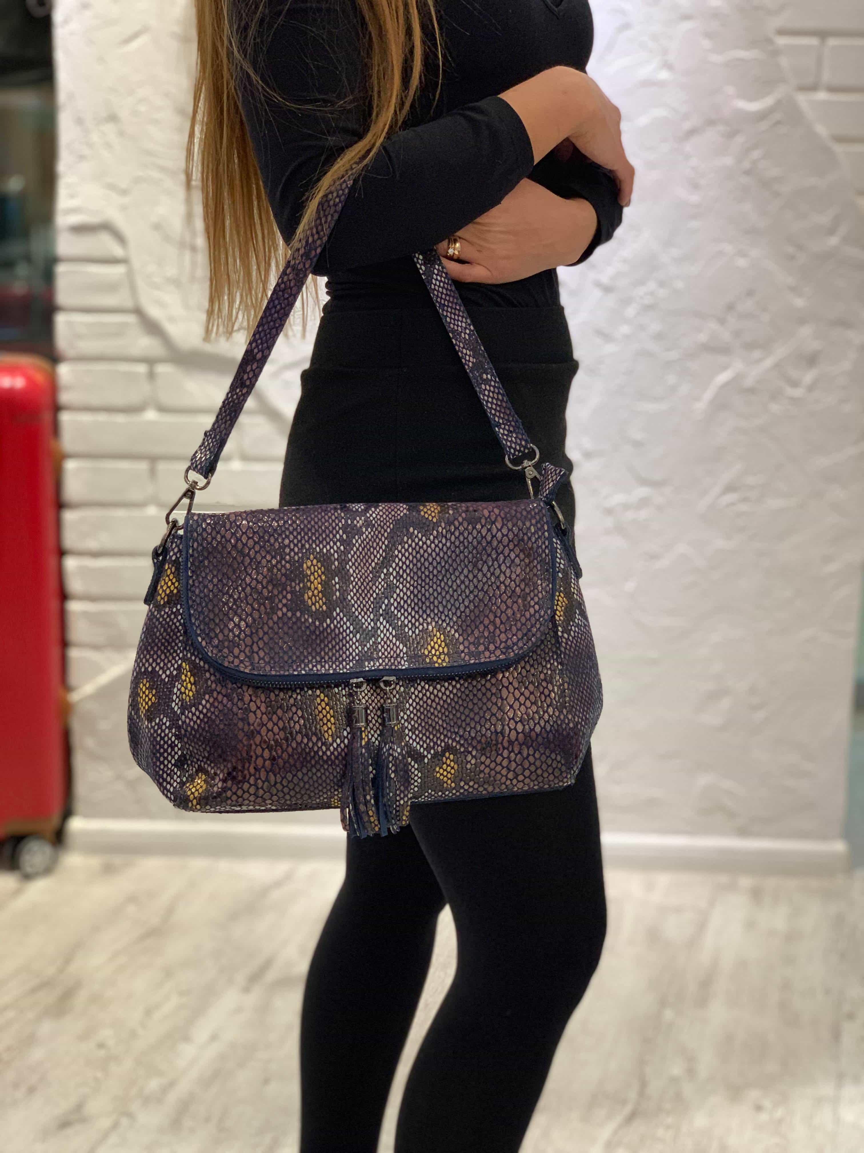 Женская кожаная сумка 6203-1 D BLUE