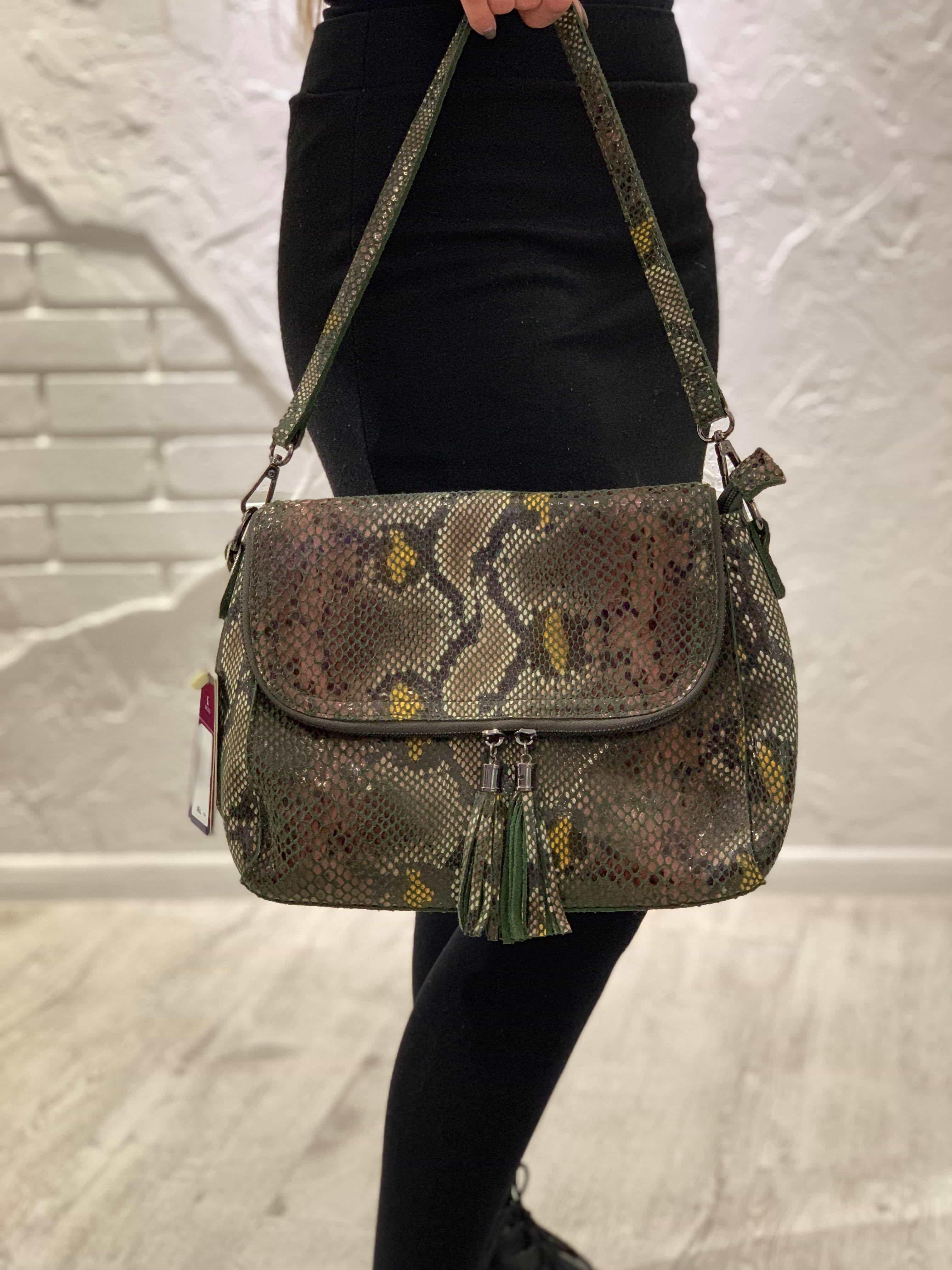 Женская кожаная сумка 6203-1 BLACK