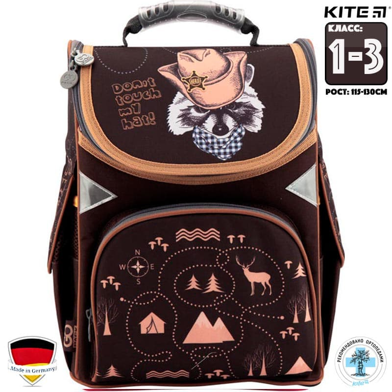 Рюкзак школьный ортопедический каркасный GoPack GO18-5001S-12