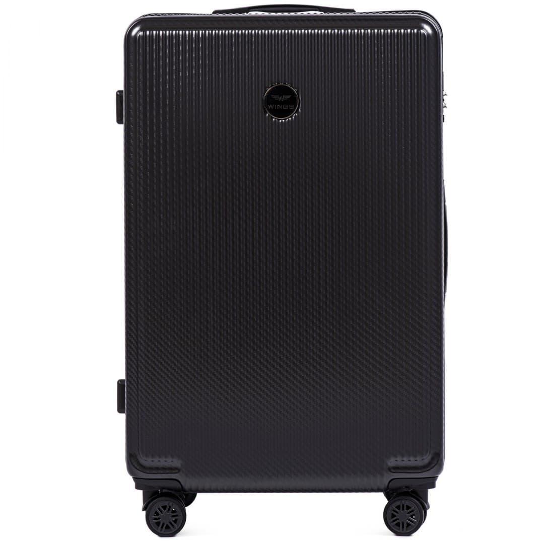 Valiza mare WINGS 565 L Dark Grey din POLICARBON pe 4 roti !Pt bagaj,pina la 23 kg