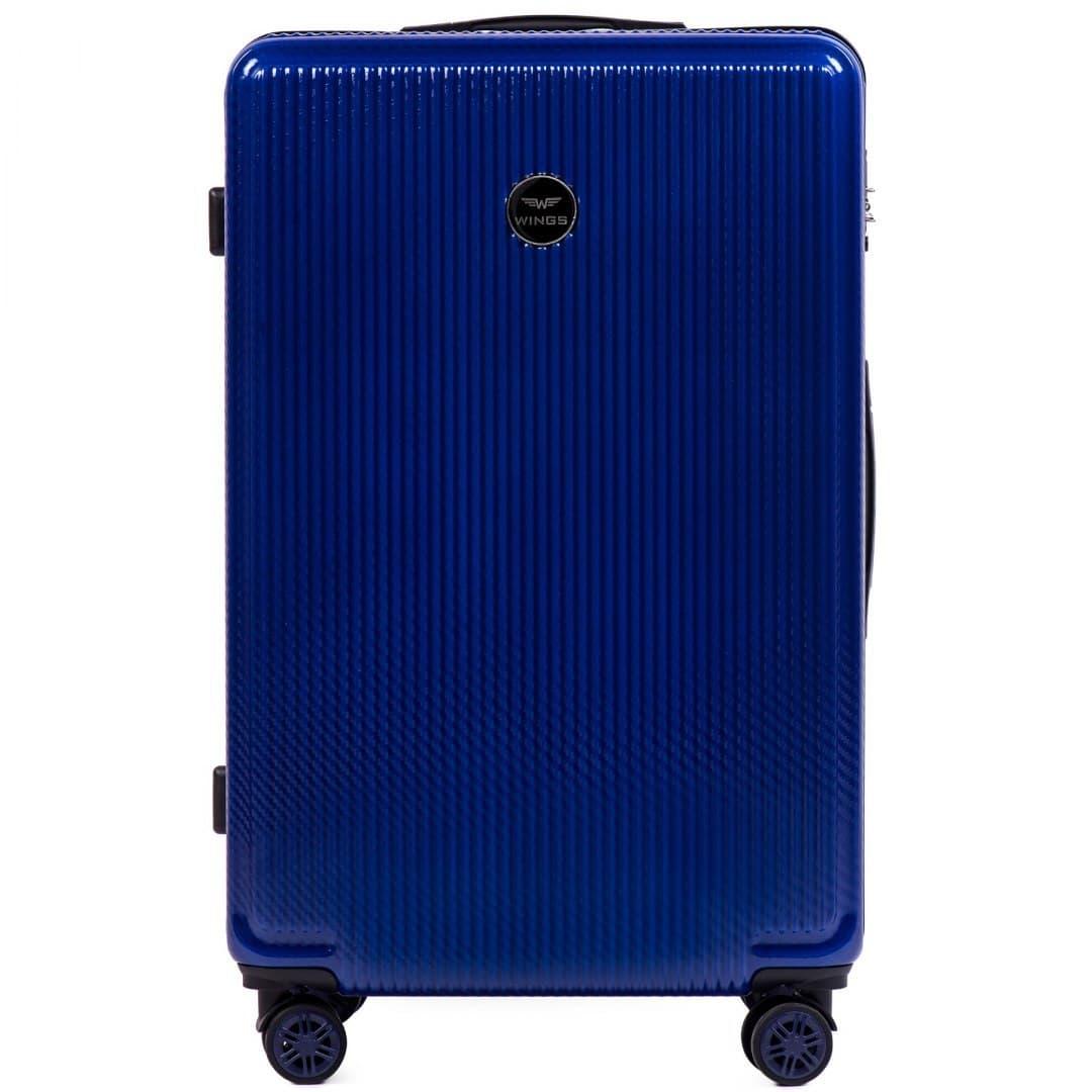 БОЛЬШОЙ ЧЕМОДАН WINGS PREMIUM  565 L Royal Blue НА 4-Х  КОЛЕСАХ!Для багажа ,до 23 кг
