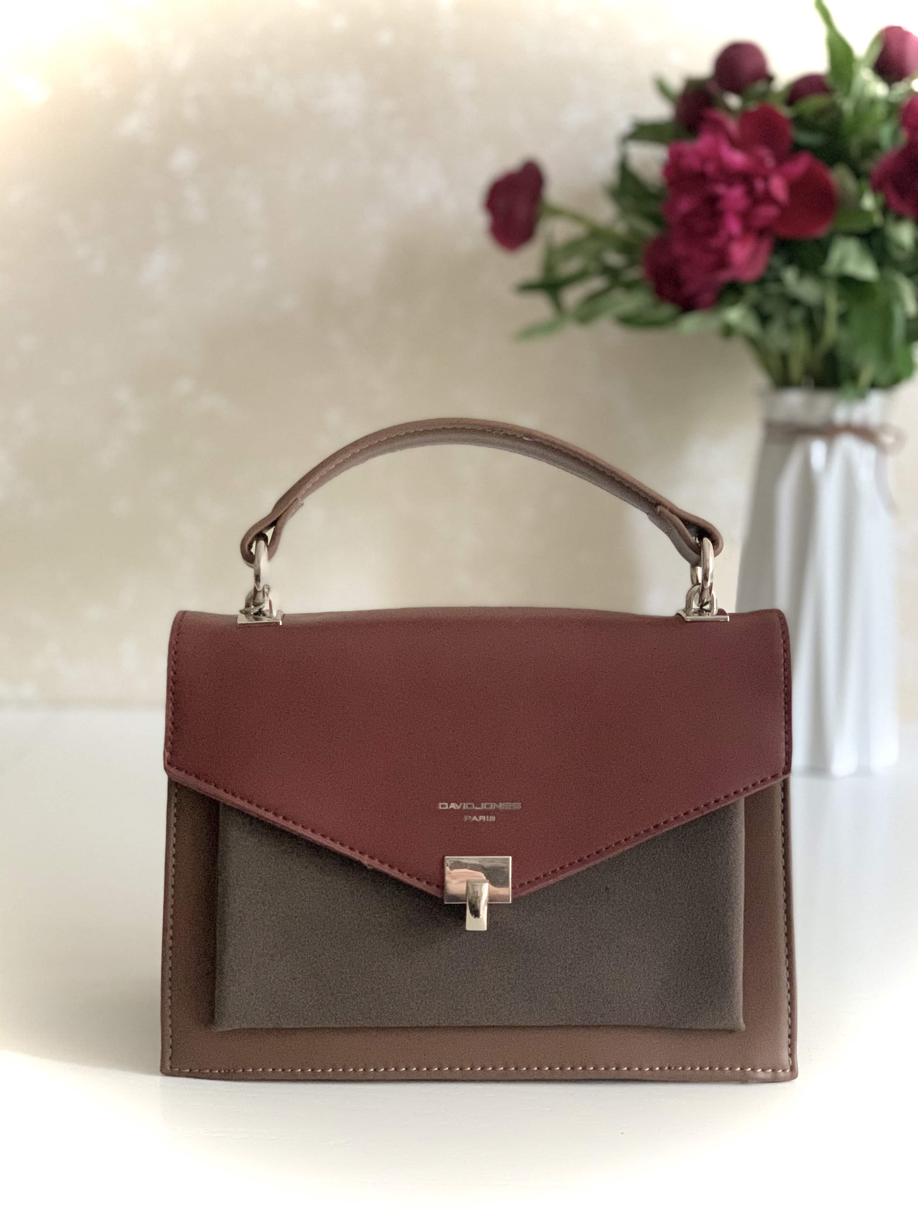 ЖЕНСКАЯ СУМОЧКА DAVID JONES CM5663T BORDEAUX/TAUPE