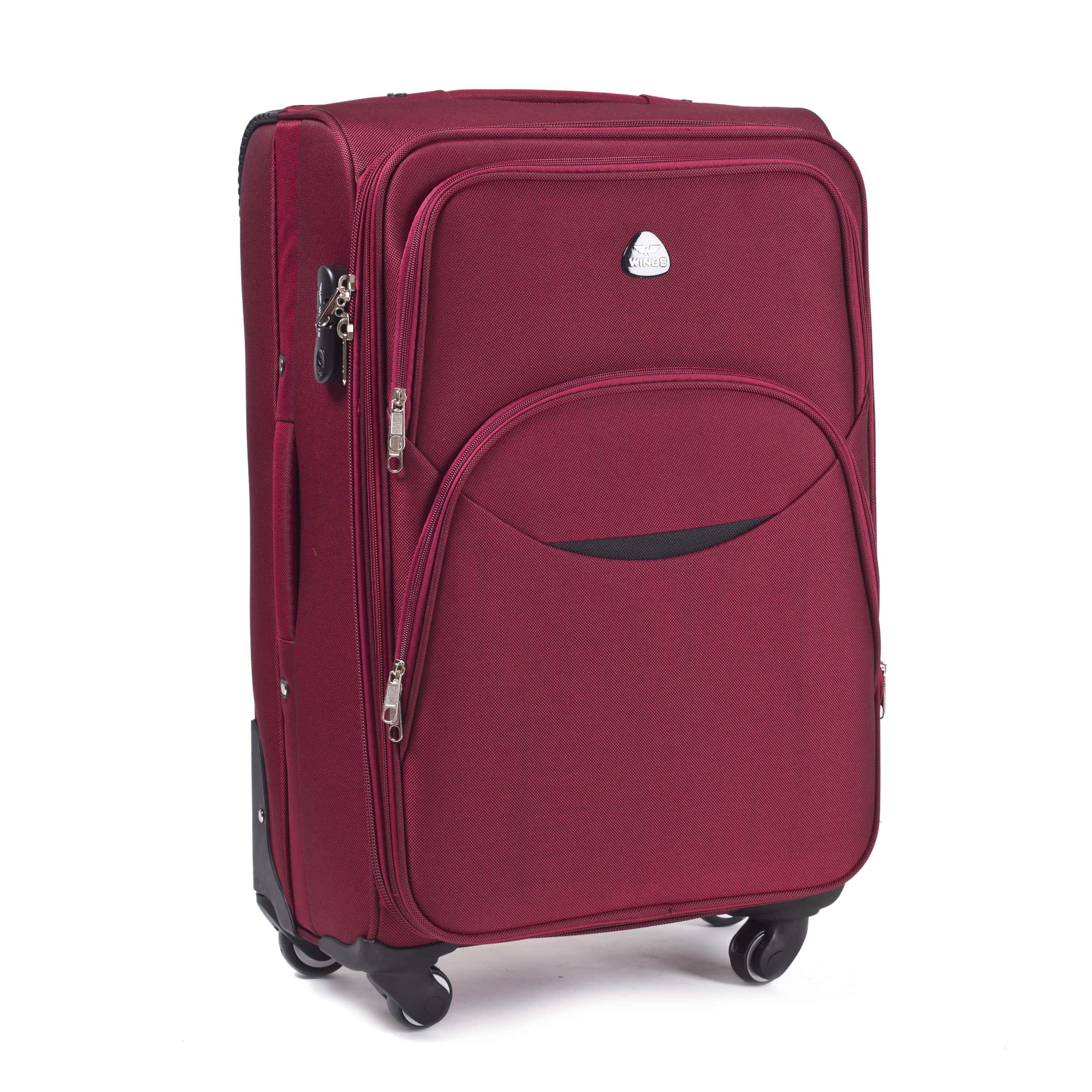 Малый Тканевый Чемодан Wings 1708-4 S Red PREMIUM на 4-х прочных колесах! Для багажа,до 10 кг