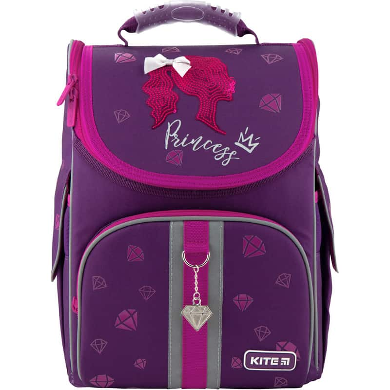 Ghiozdan ortopedic pt școală cu carcasa Kite Education Princess K20-501S-9