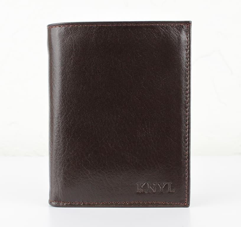 Мужской кошелек из натуральной кожи.CE1233 Coffe
