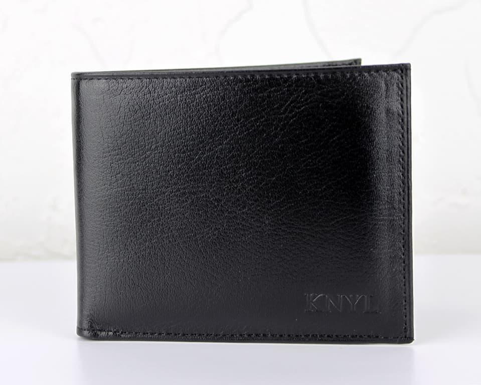 Мужской кошелек из натуральной кожи.CE1539 BLACK