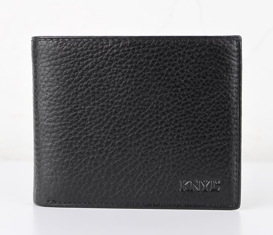 Мужской кошелек из натуральной кожи.CE1567 Black