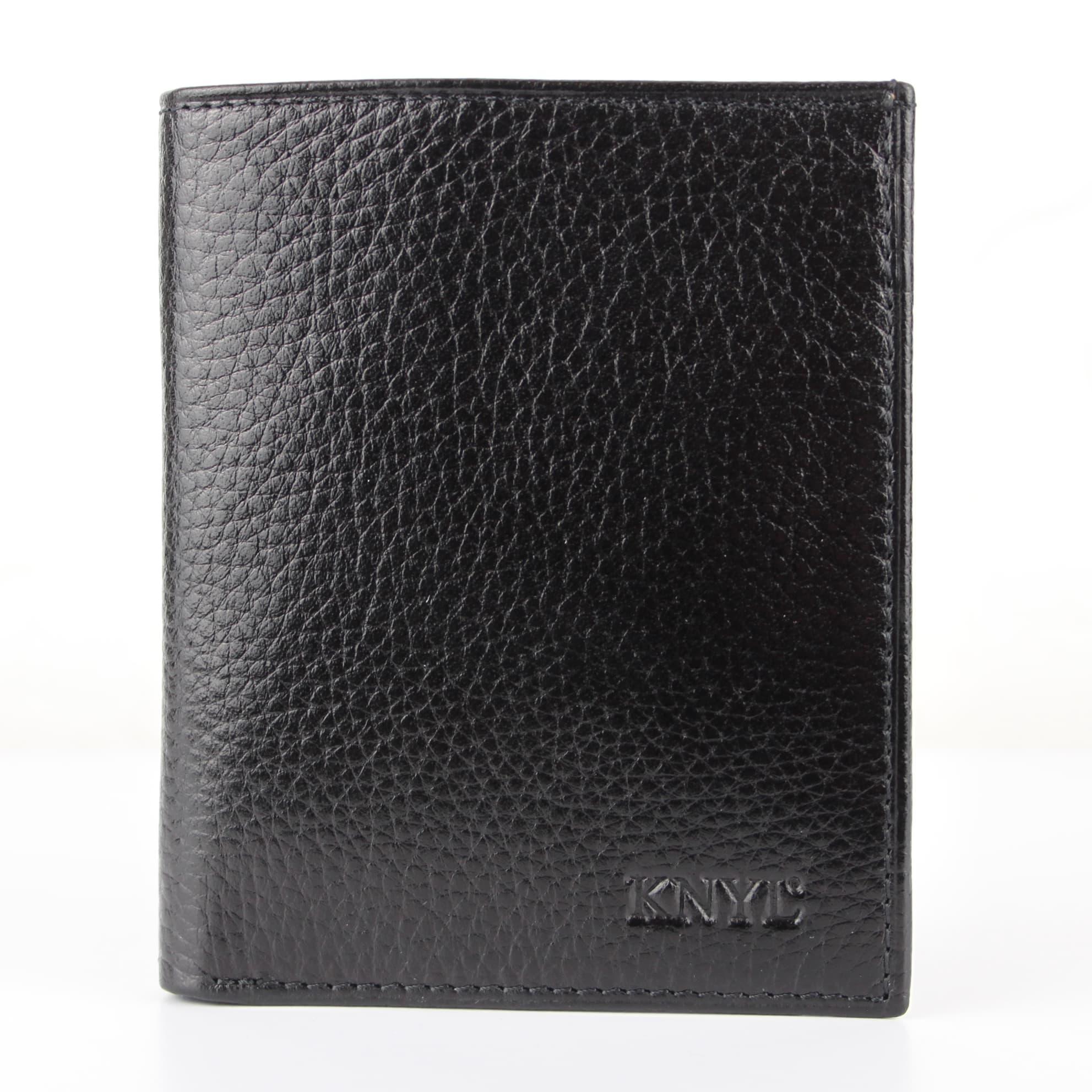 Мужской кошелек из натуральной кожи.CE1570 Black