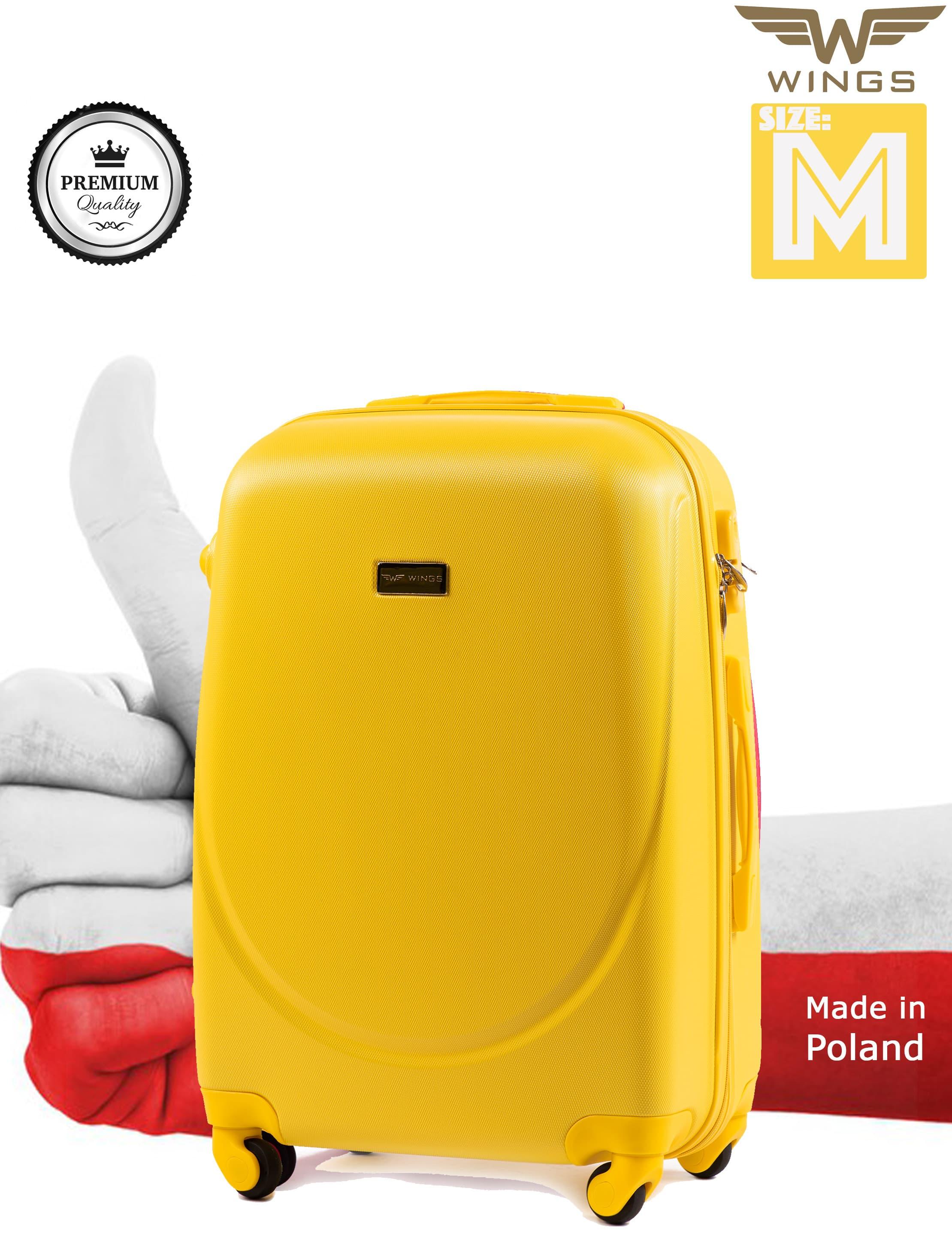 Ударостойкий ! Средний пластиковый чемодан на-4 колесах Для багажа ,до 18 кг