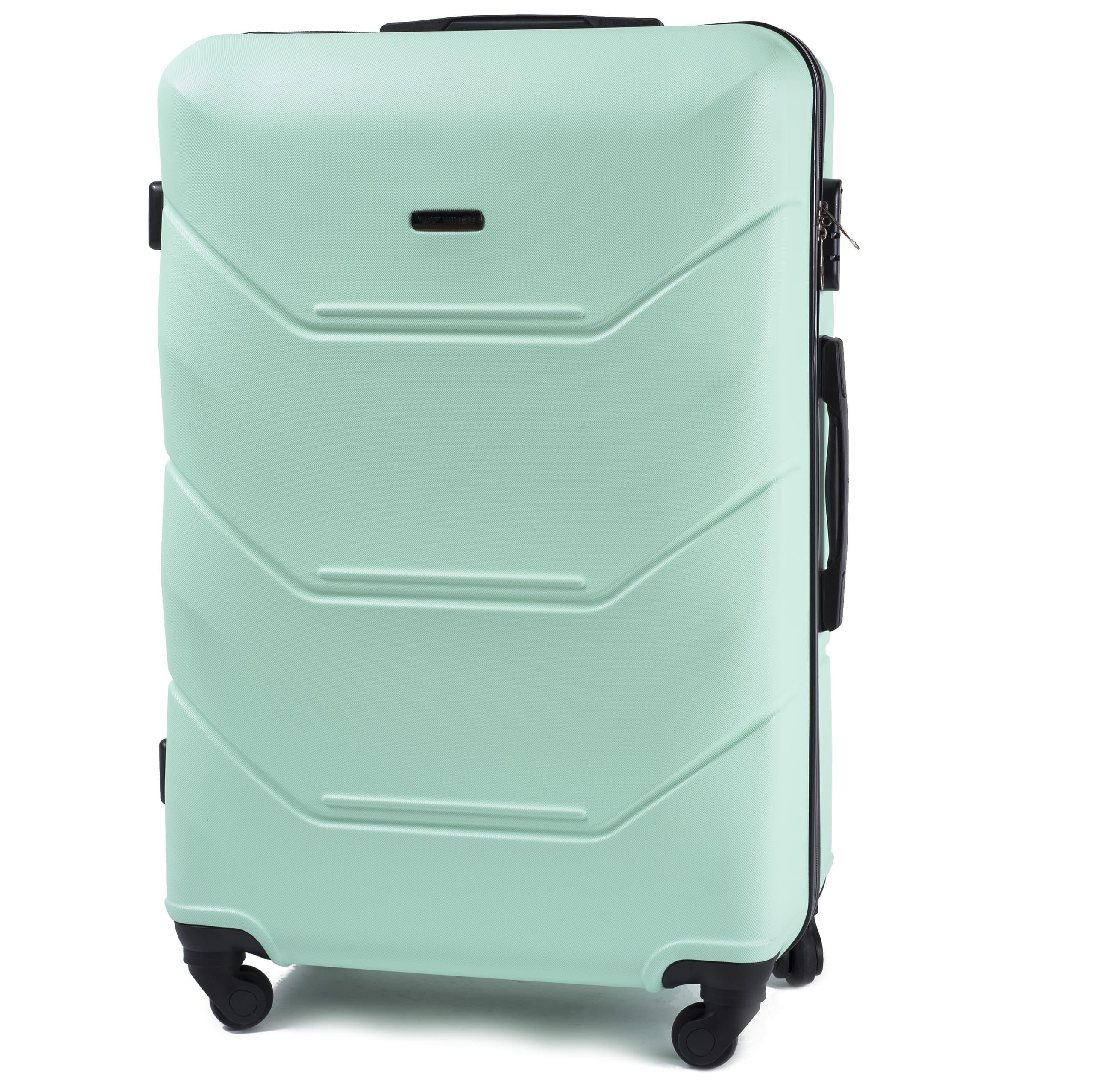 БОЛЬШОЙ ЧЕМОДАН WINGS 147 L Light Green PREMIUM НА 4-Х КАУЧУКОВЫХ КОЛЕСАХ! Для багажа ,до 23 кг
