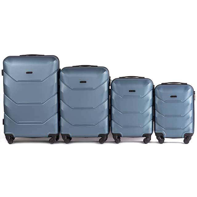 Комплект чемоданов из АБС Поликарбонат! ПОЛЬСКИЕ  Ударостойкиe ! 147 SET BURGUNDY