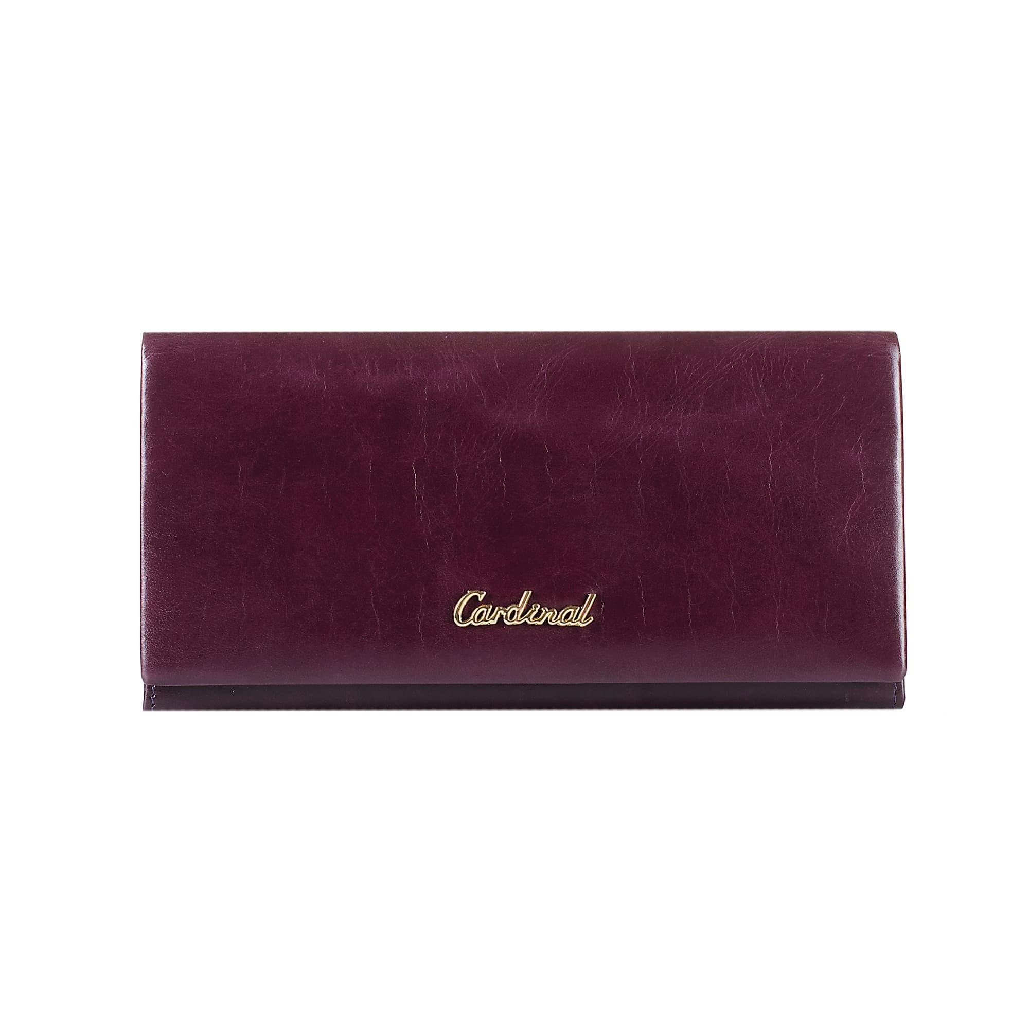 Женский кожаный кошелек из натуральной кожи CARDINAL 5247#-2043 PURPLE