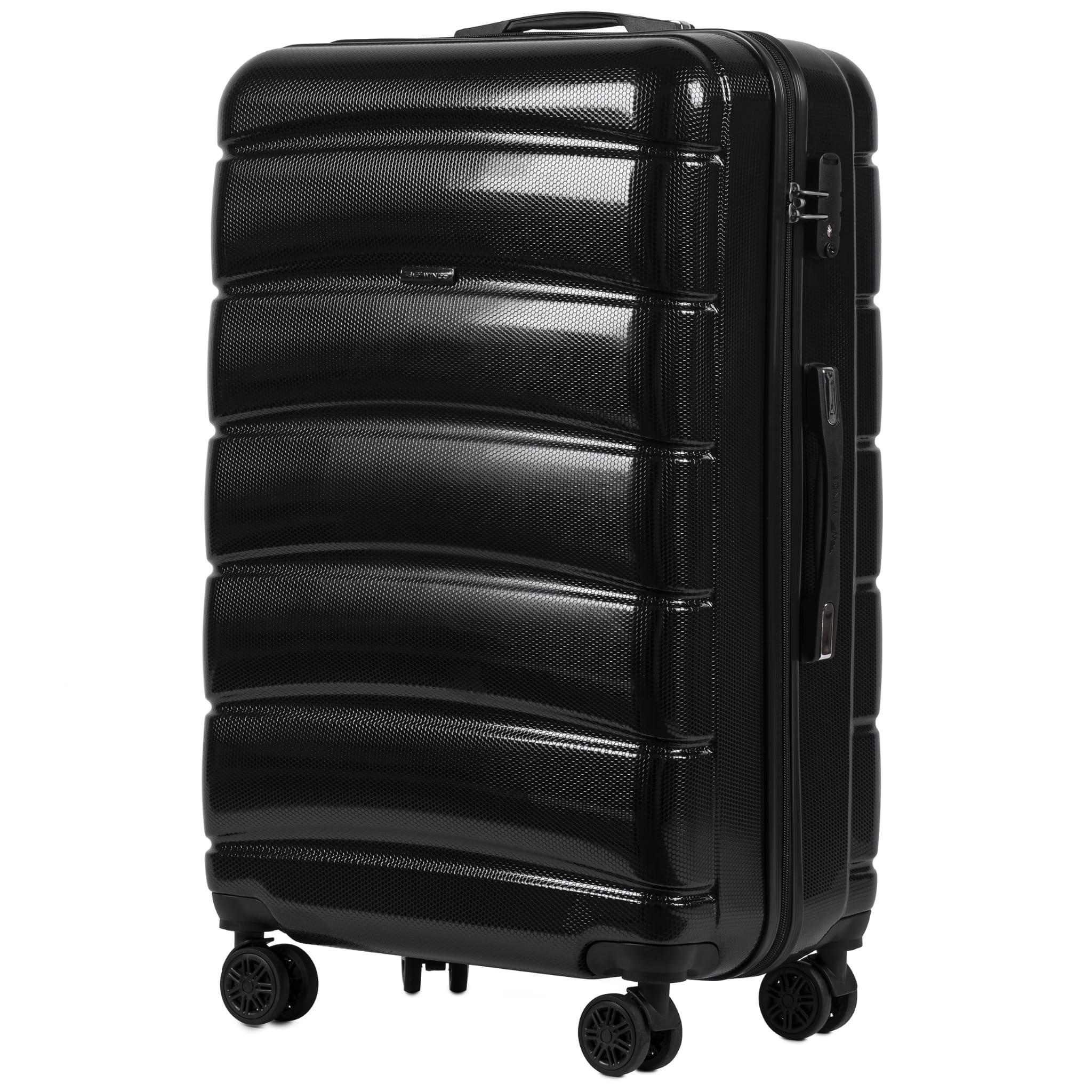 БОЛЬШОЙ ЧЕМОДАН WINGS 160 L BLACK  PREMIUM НА 4-Х КАУЧУКОВЫХ КОЛЕСАХ! Для багажа ,до 23 кг!
