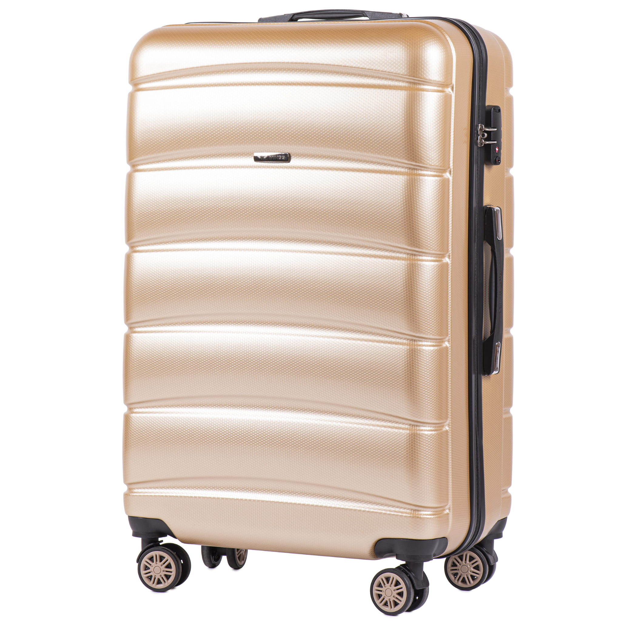 БОЛЬШОЙ ЧЕМОДАН WINGS 160 L CHAMPANGE  PREMIUM НА 4-Х КАУЧУКОВЫХ КОЛЕСАХ! Для багажа ,до 23 кг!