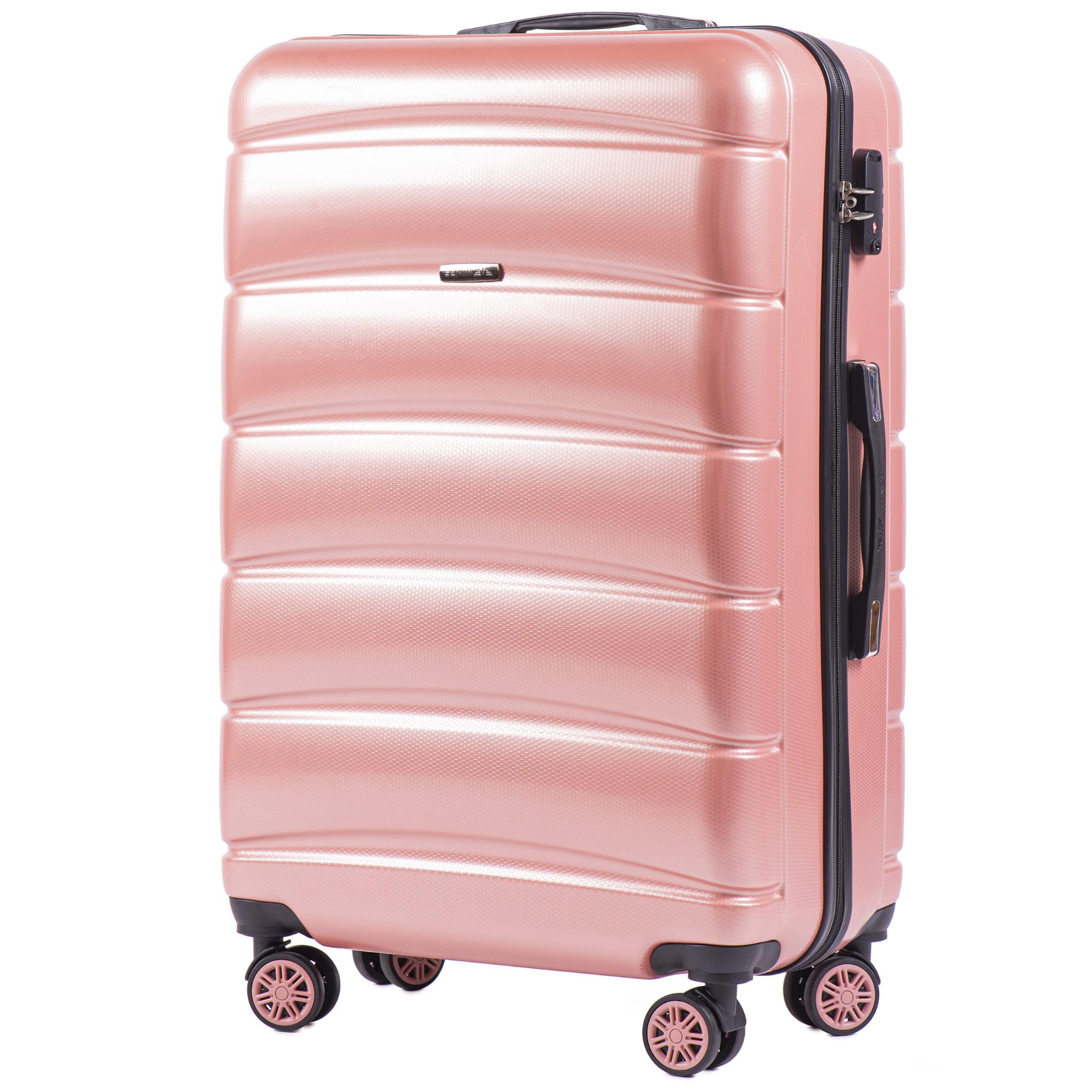 БОЛЬШОЙ ЧЕМОДАН WINGS 160 L PINK PREMIUM НА 4-Х КАУЧУКОВЫХ КОЛЕСАХ! Для багажа ,до 23 кг!
