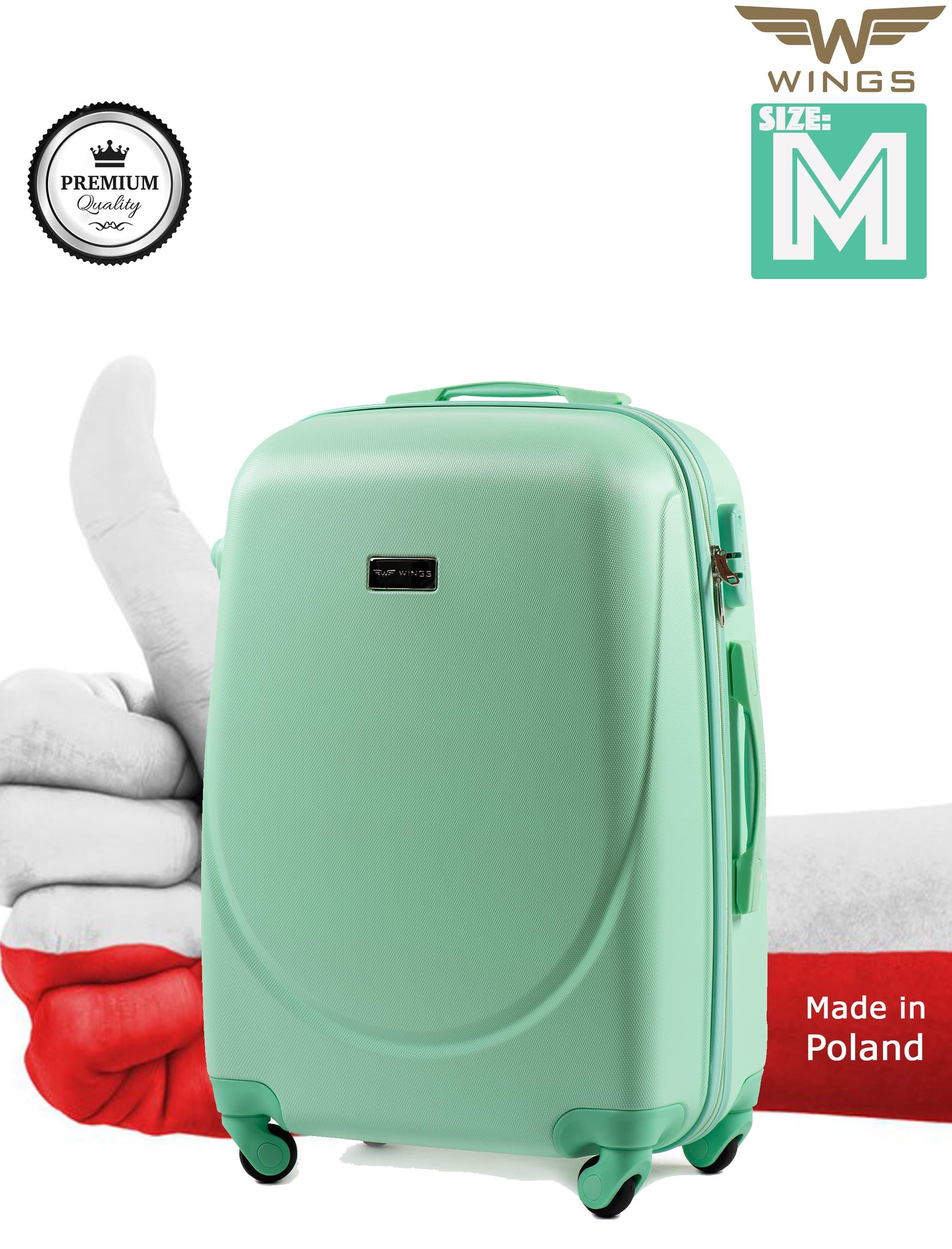 Ударостойкий ! Средний пластиковый чемодан на четырёх каучуковых колёса Для багажа ,до 18 кг