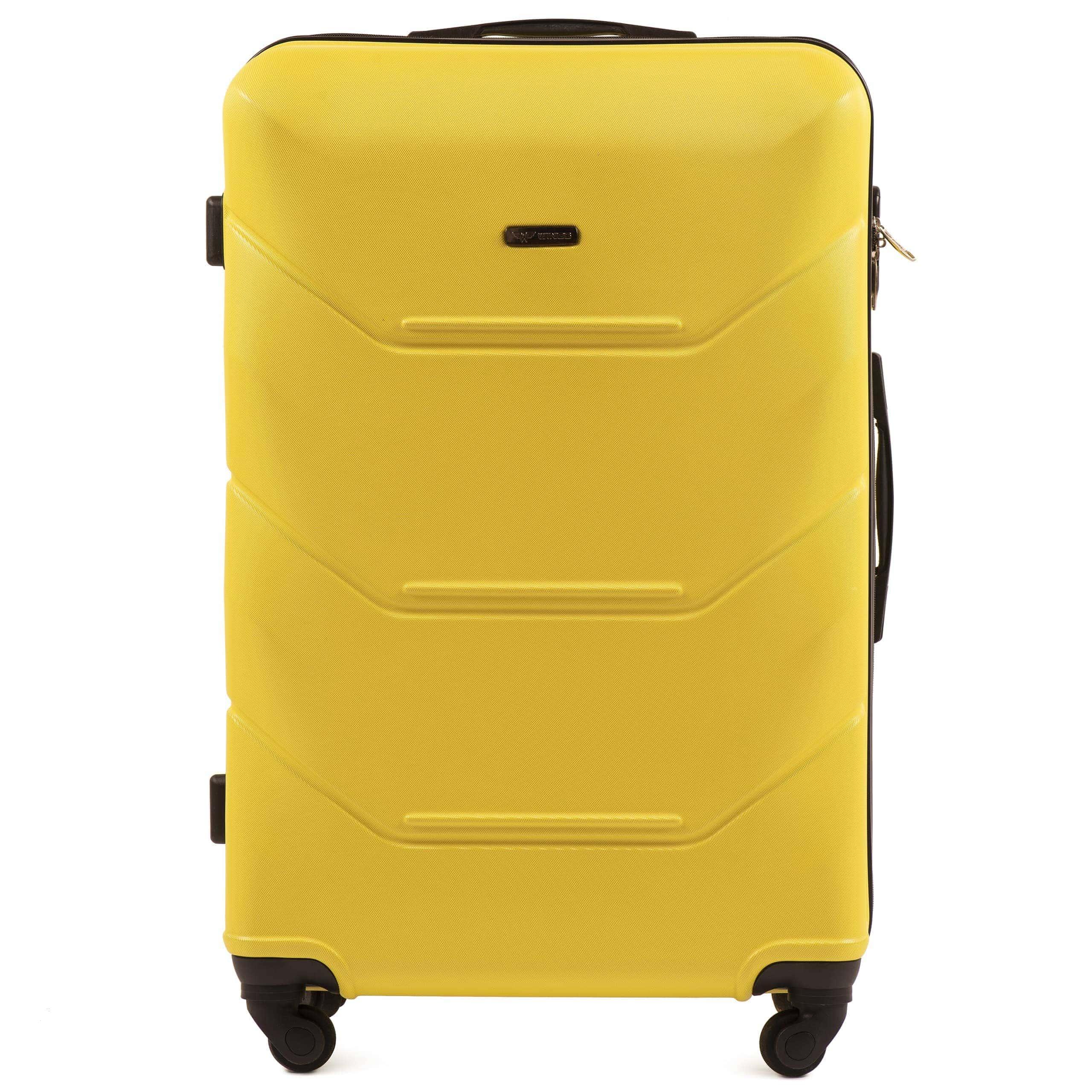 Valiza mare WINGS 147 L YELLOW Premium pe 4 roti din cauciuc!Pt bagaj,pina la 23 kg