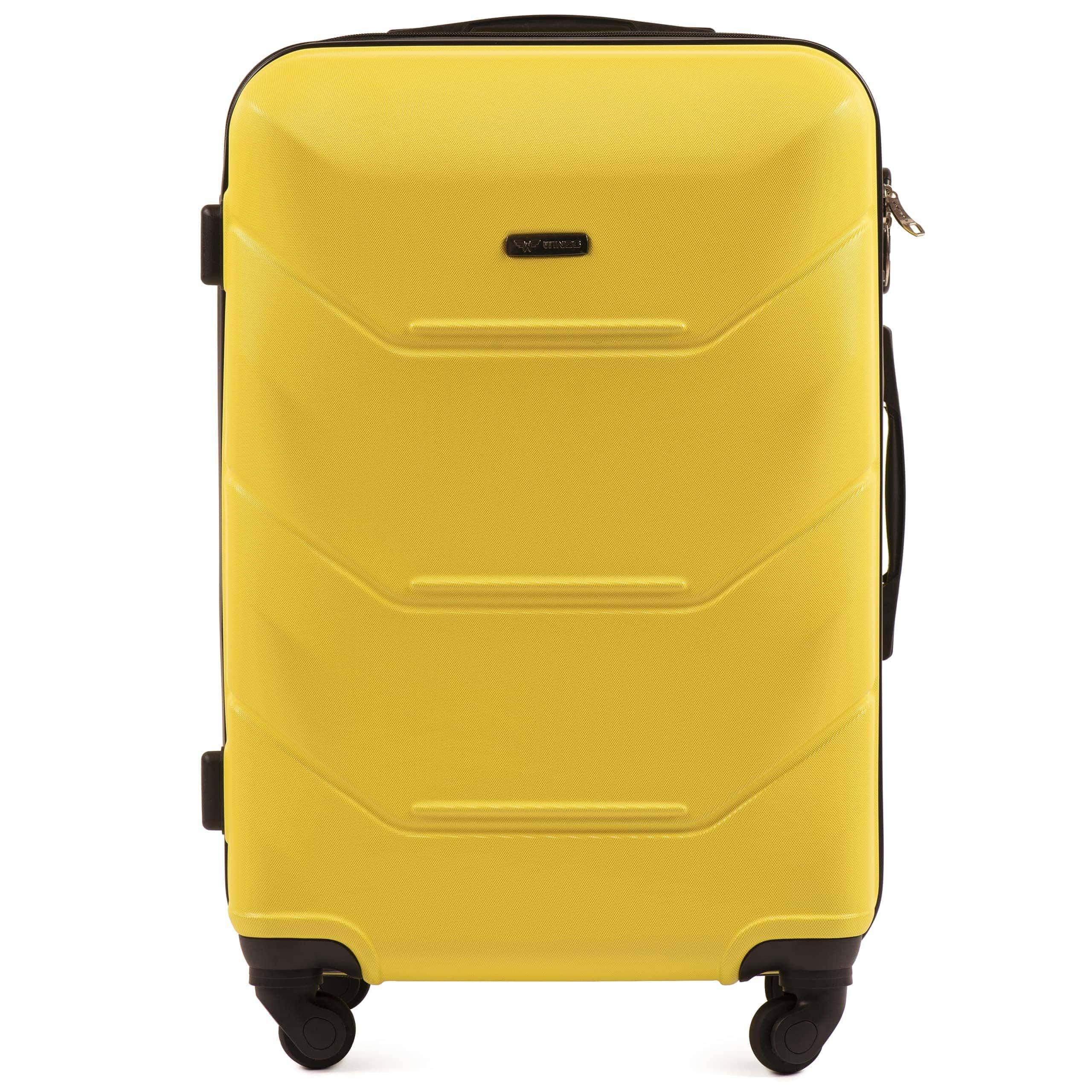 СРЕДНИЙ ЧЕМОДАН WINGS 147 M YELLOW PREMIUM НА 4-Х КАУЧУКОВЫХ КОЛЕСАХ! Для багажа ,до 18 кг