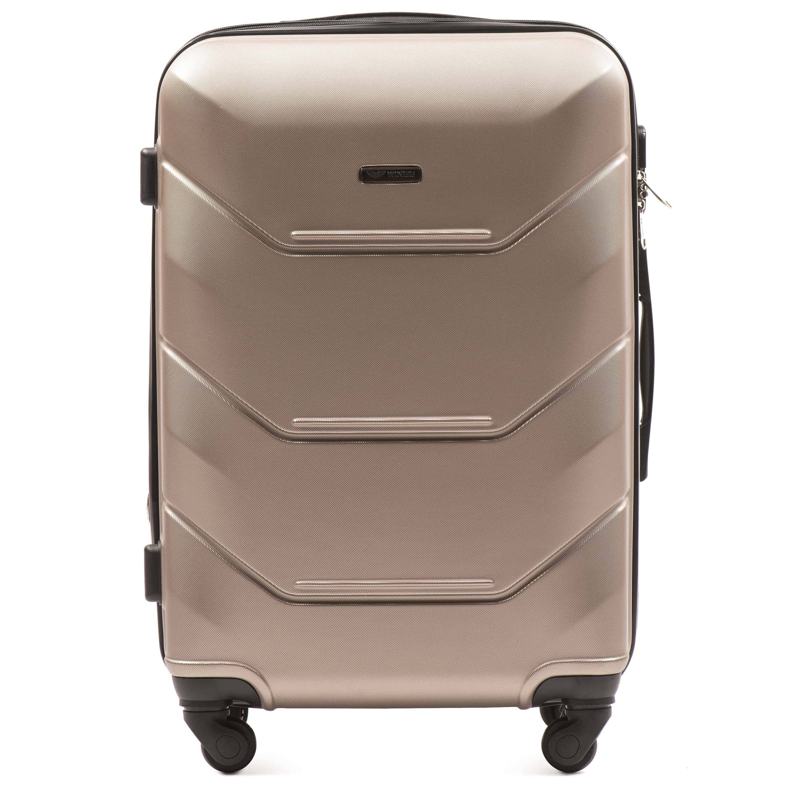 СРЕДНИЙ ЧЕМОДАН WINGS 147 M Champany PREMIUM НА 4-Х КАУЧУКОВЫХ КОЛЕСАХ! Для багажа ,до 18 кг