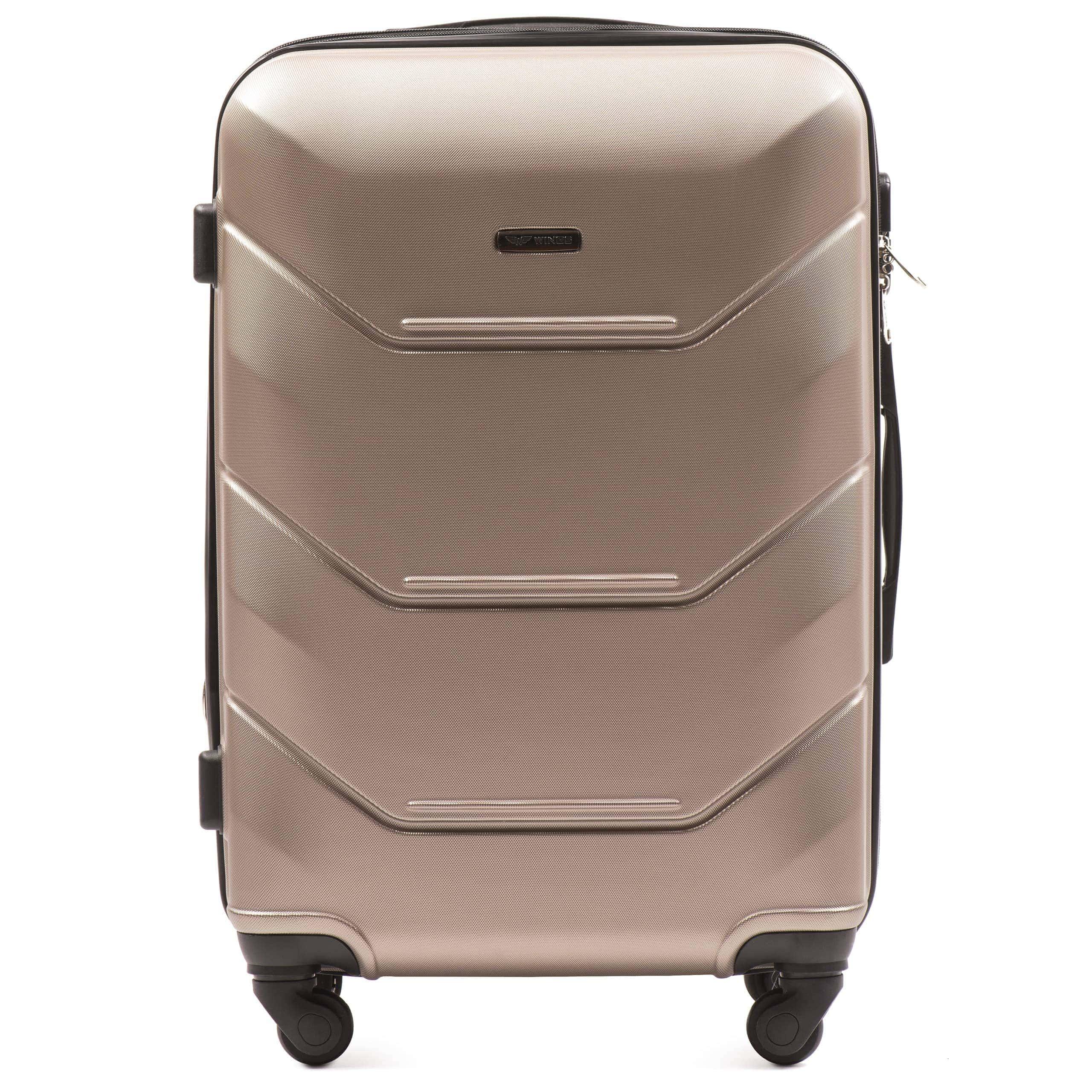 Valiza medie WINGS 147 M Champany Premium pe 4 roti din cauciuc!Pt bagaj,pina la 18 kg