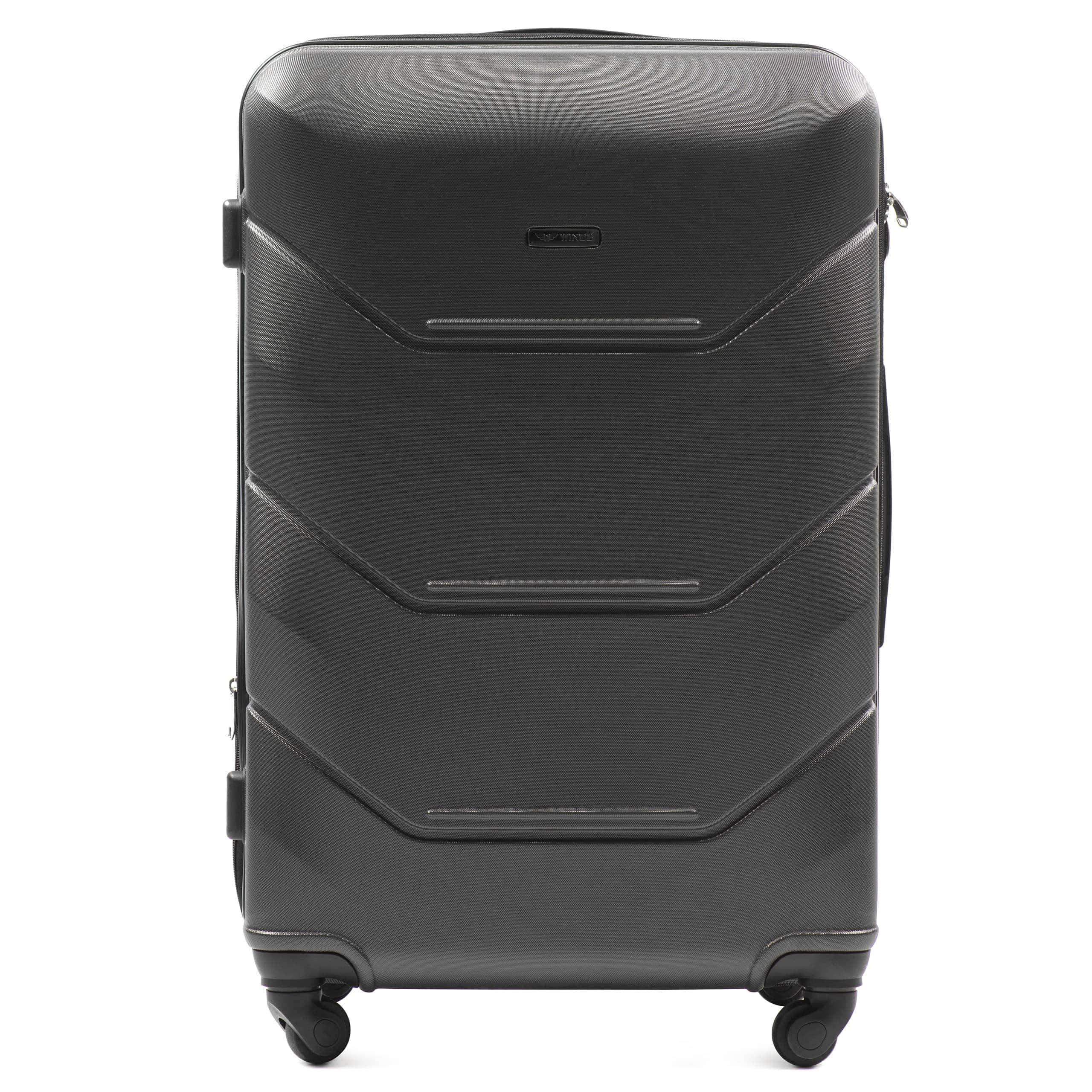 Valiza mare WINGS 147 L DARK GREY Premium pe 4 roti din cauciuc!Pt bagaj,pina la 23 kg