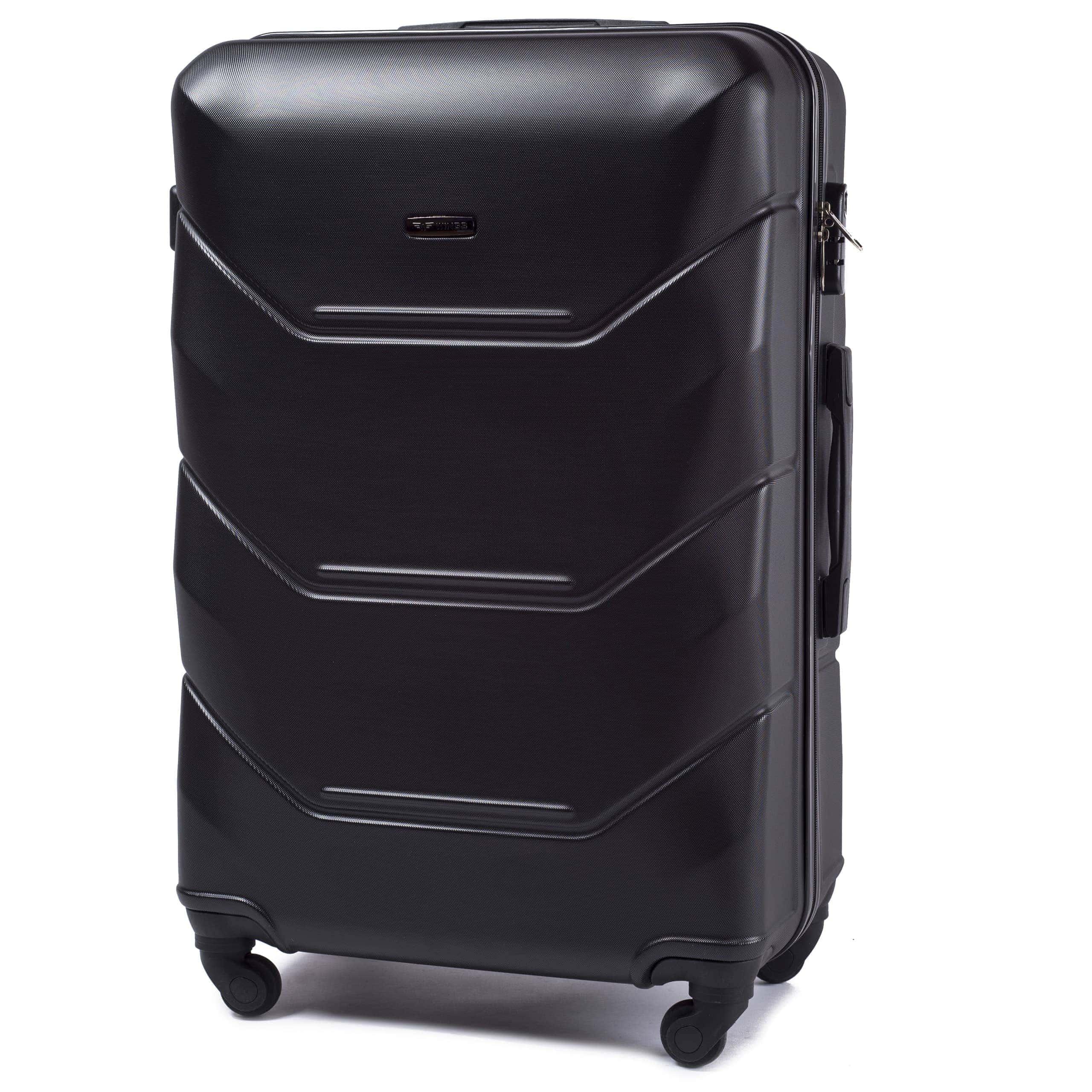 Valiza mare WINGS 147 L BLACK Premium pe 4 roti din cauciuc!Pt bagaj,pina la 23 kg