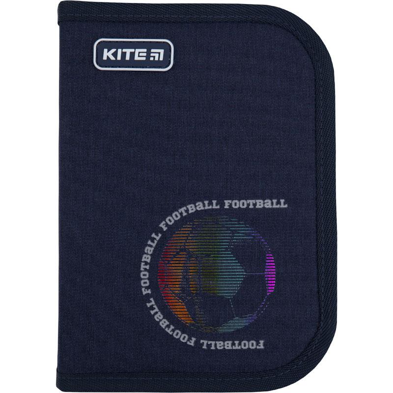 Пенал без наполнения Kite Education Football K21-621-6, 1 отделение, 1 отворот