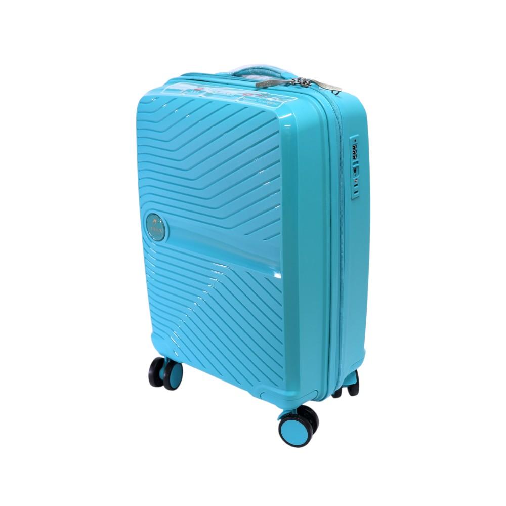Французский ударостойкий чемодан Малый из полипропилена  на 4-ых колесах Для ручной клади,до 7/10 кг