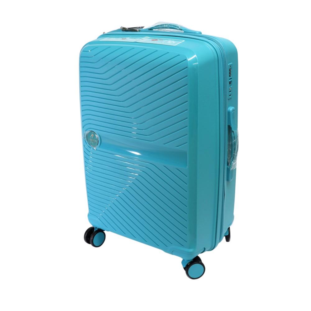 Французский ударостойкий Средний чемодан из полипропилена  на 4-ых колесах Для багажа ,до 18 кг