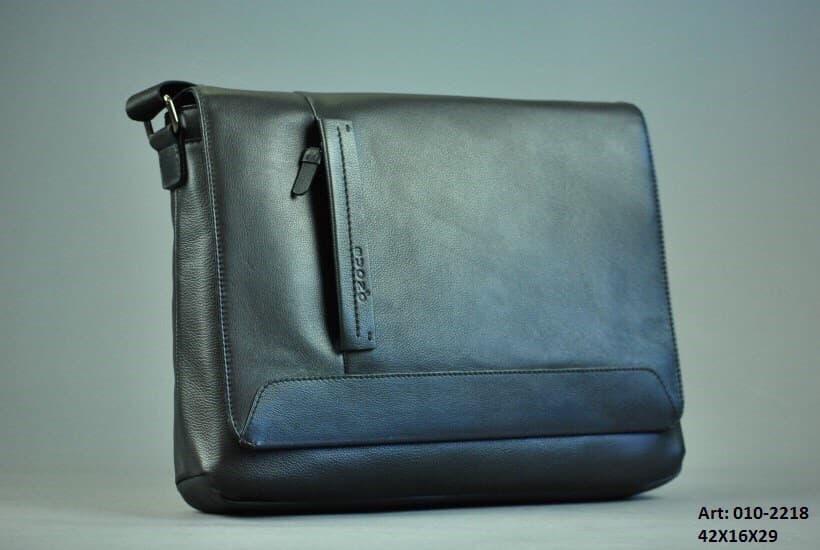 Мужская кожаная сумка Формат А4 BUONO 010-2218 BLACK